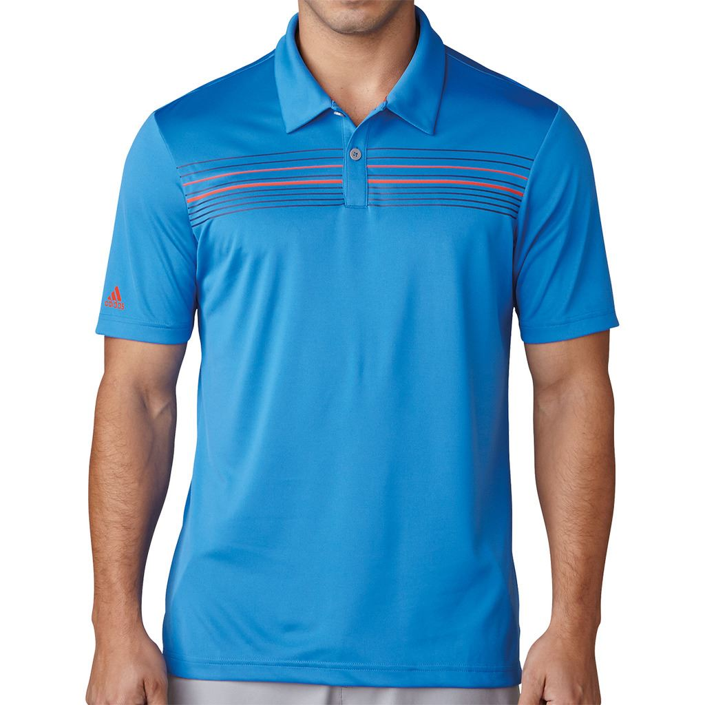 Adidas golf 2017 climacool chest print polo mens for Polo shirts for printing