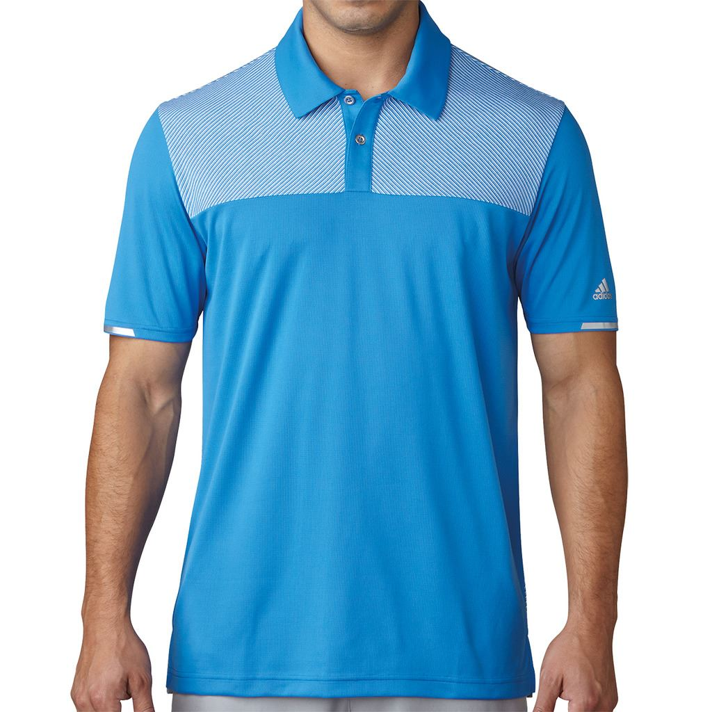 adidas golf 2017 climachill heather block competition mens golf polo shirt ebay. Black Bedroom Furniture Sets. Home Design Ideas