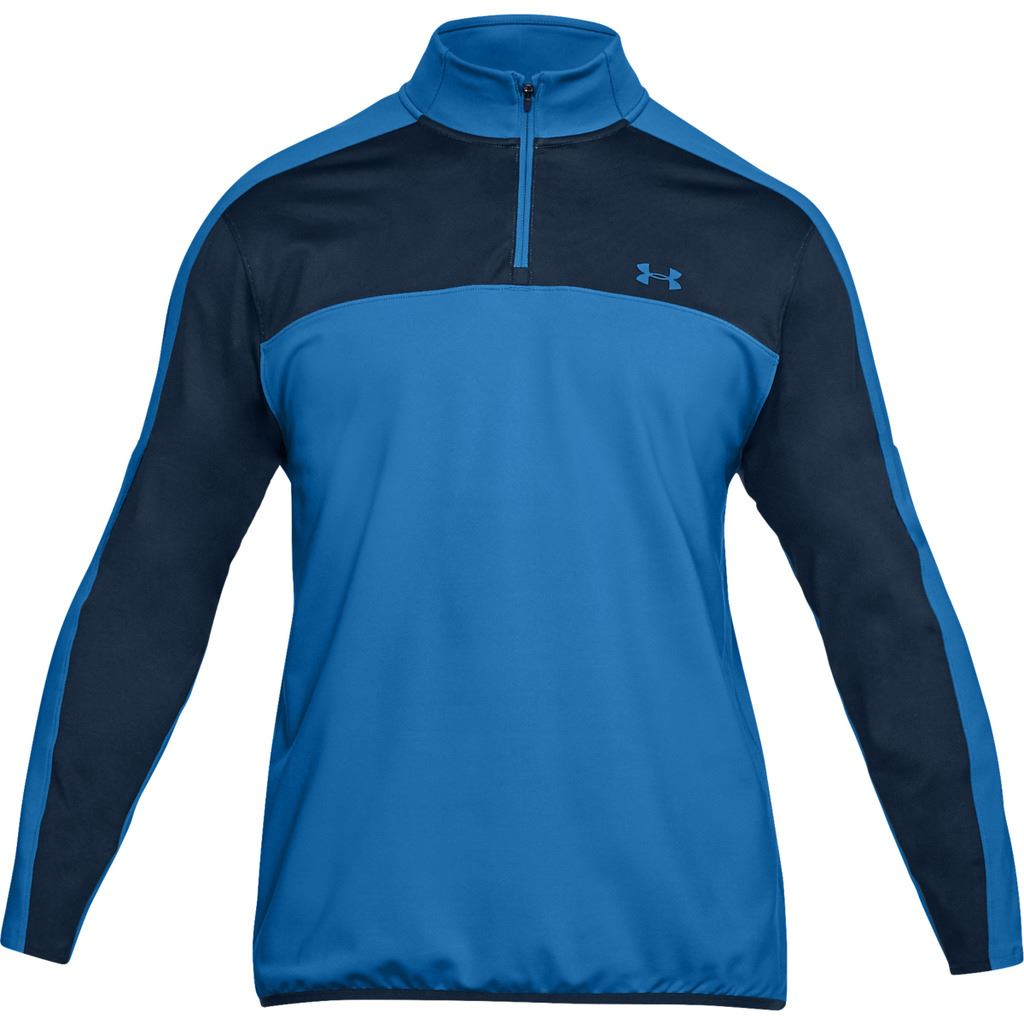 Under-Armour-EU-Midlayer-1-4-Zip-Hydrofuge-Hommes-Golf-Pull-Pullover miniature 2