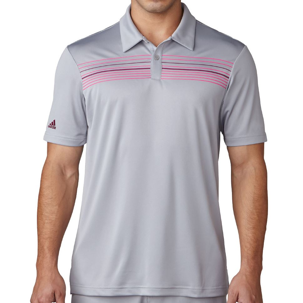 Adidas Golf 2017 Climacool Chest Print Polo Mens