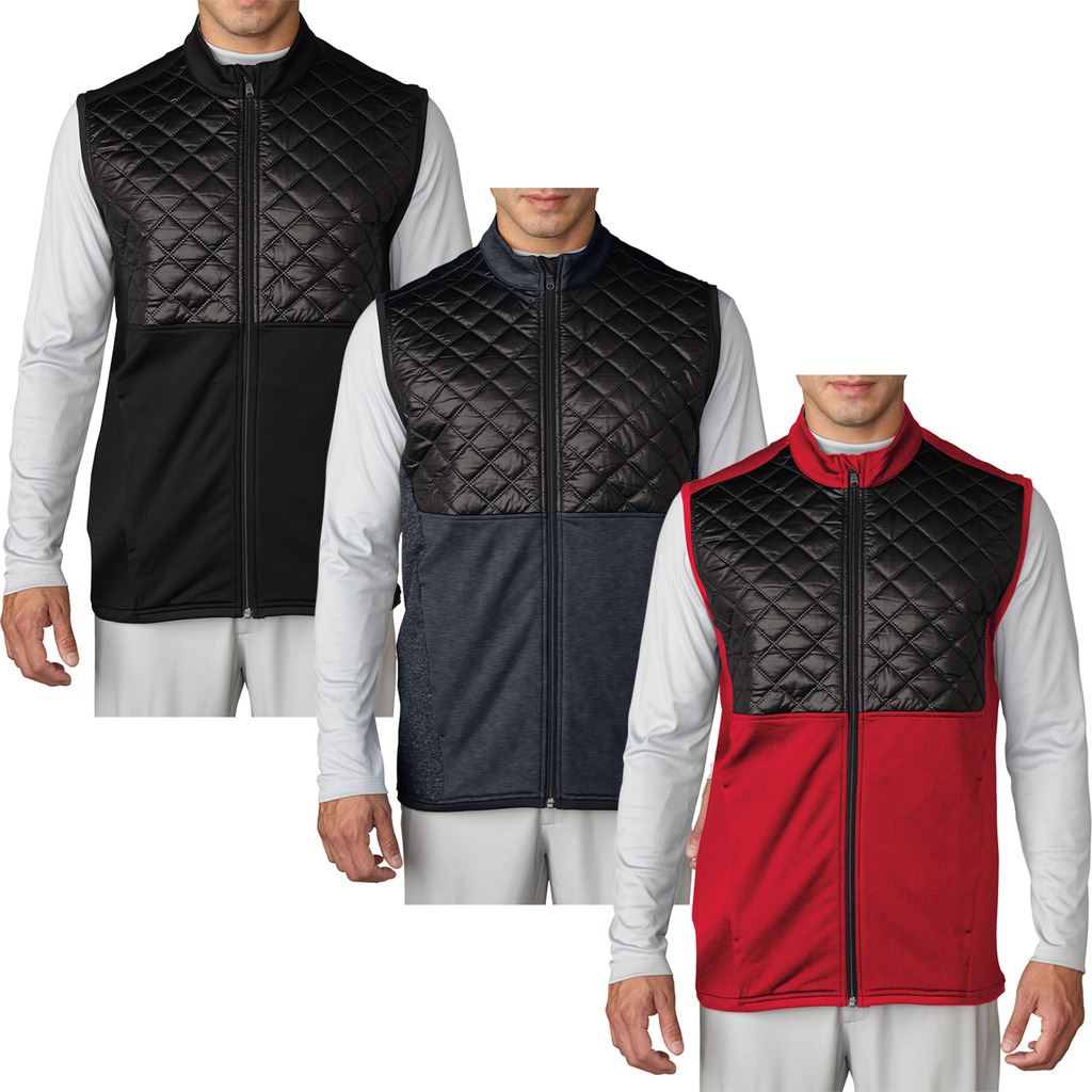 1ab2fa765 adidas Golf Climaheat™ Prime Fill Gilet Insulated Quilted Mens Golf Vest |  eBay
