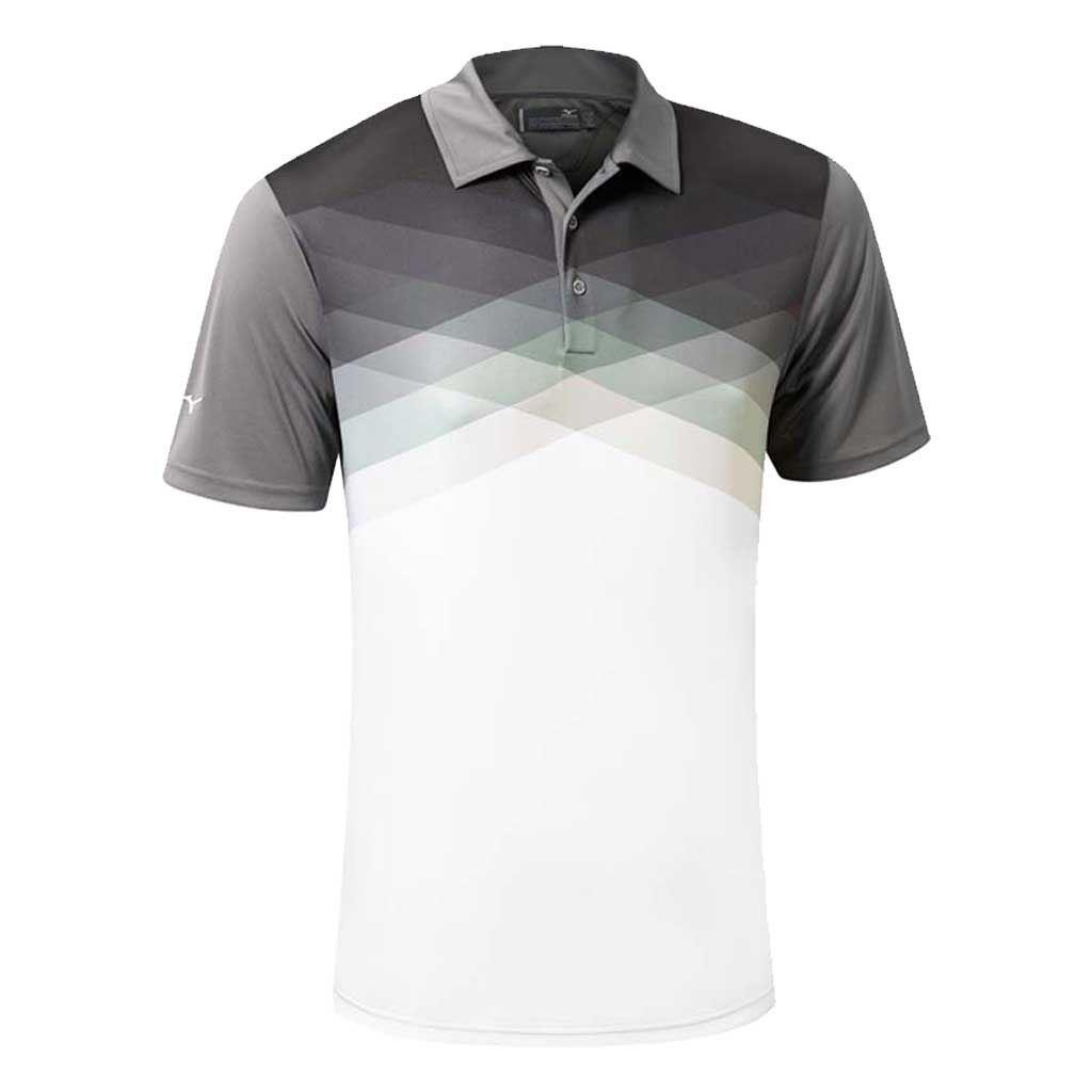 Mizuno golf 2016 x tint argyle drylite performance mens for Golf shirt vs polo shirt