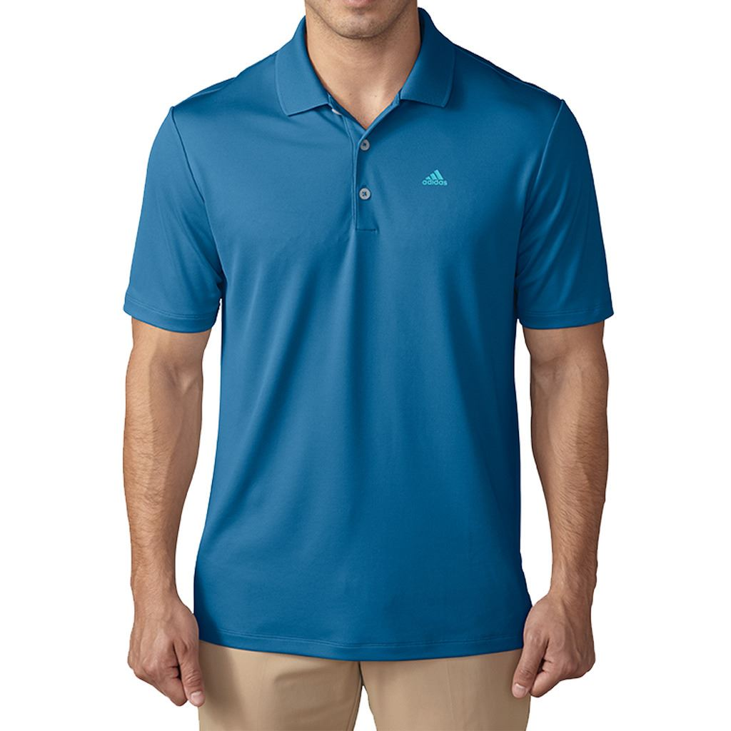 Polos respirants Adidas Golf bleus homme I7XXkc