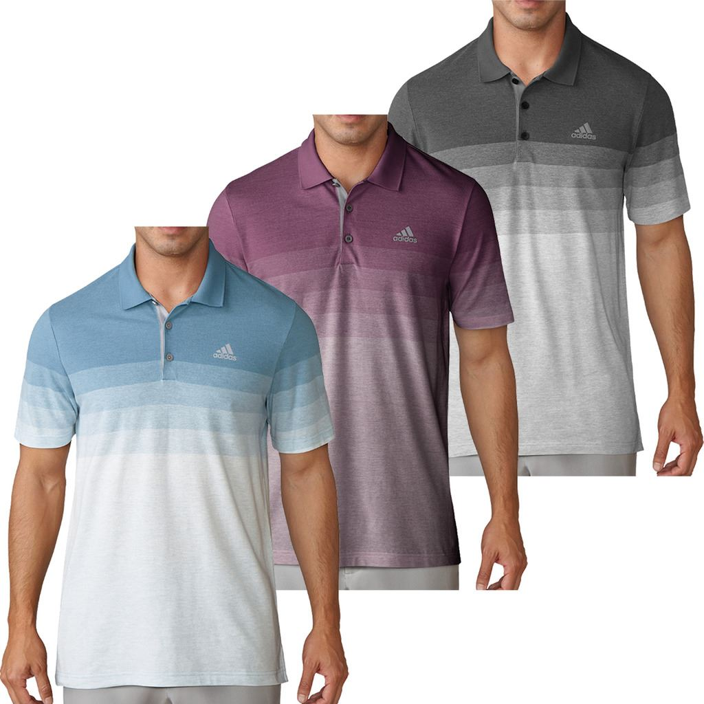 Breathable Gradient Adidas Pique Golf Mens Polo ShirtEbay tdxsQrBhC