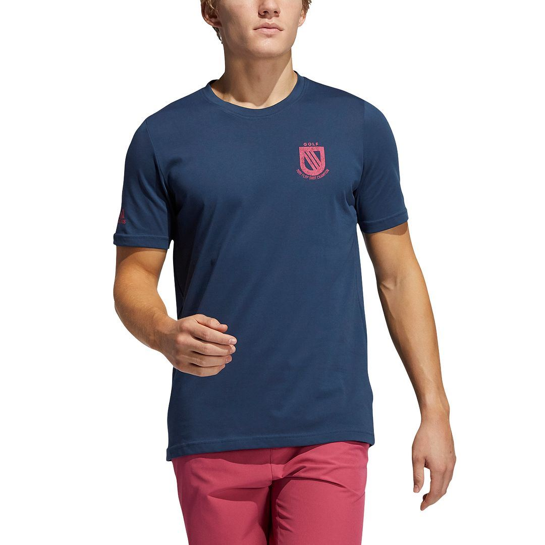 thumbnail 15 - ADIDAS Golf Mens Championship Stretch Lightweight 3-Stripes T-Shirt