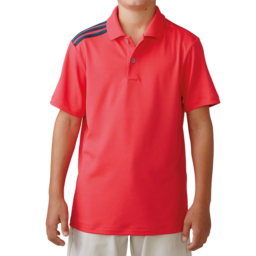 40-OFF-RRP-Junior-Adidas-ClimaCool-3-Rayures-Enfants-Performance-Golf-Polo-Shirt