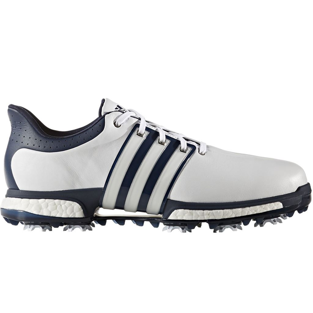 Adidas Golf TOUR360 Boost de cuero zapatos de golf amplia fitting eBay