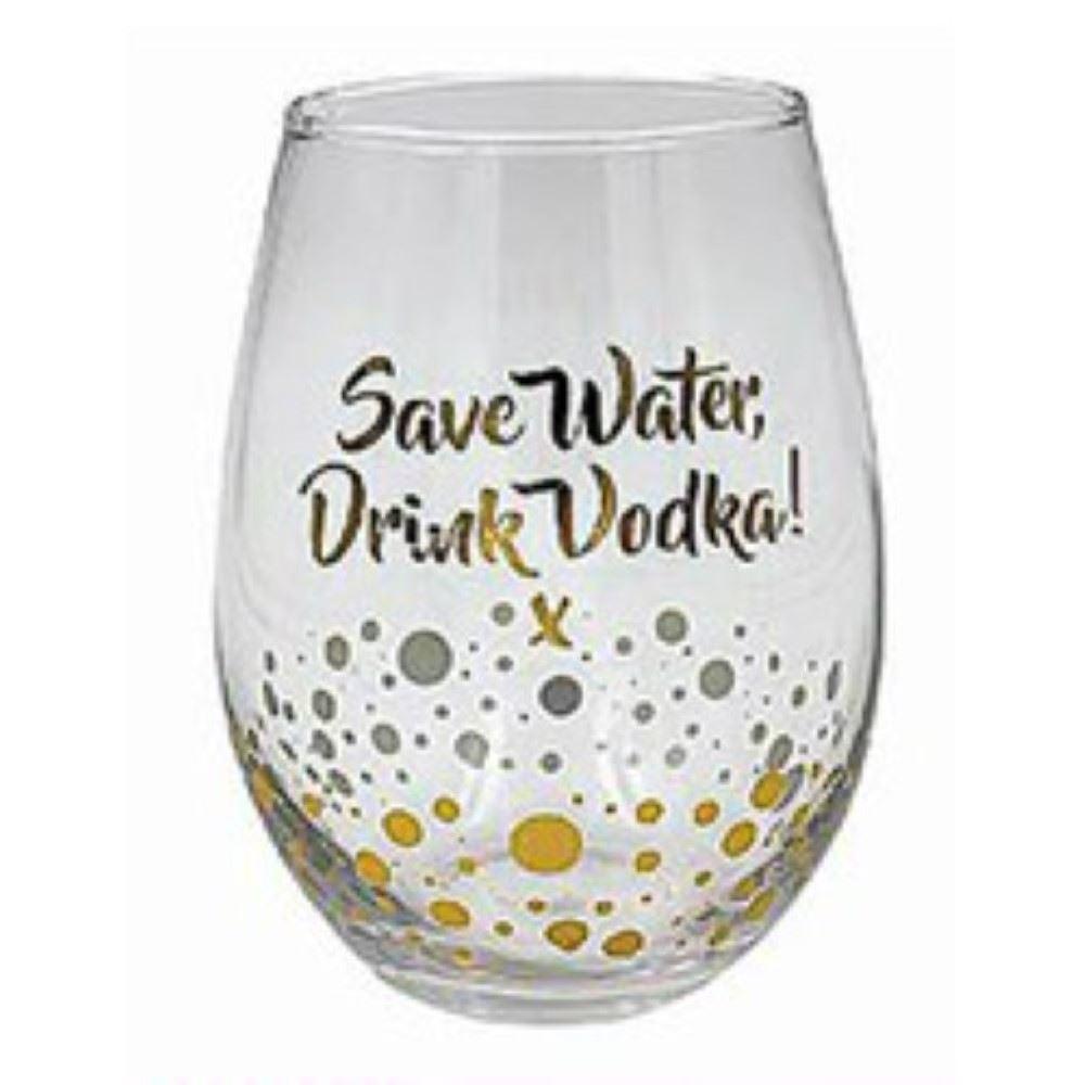 Leonardo Gin Vodka Mixer Tumbler Stemless Wine Glass Gold