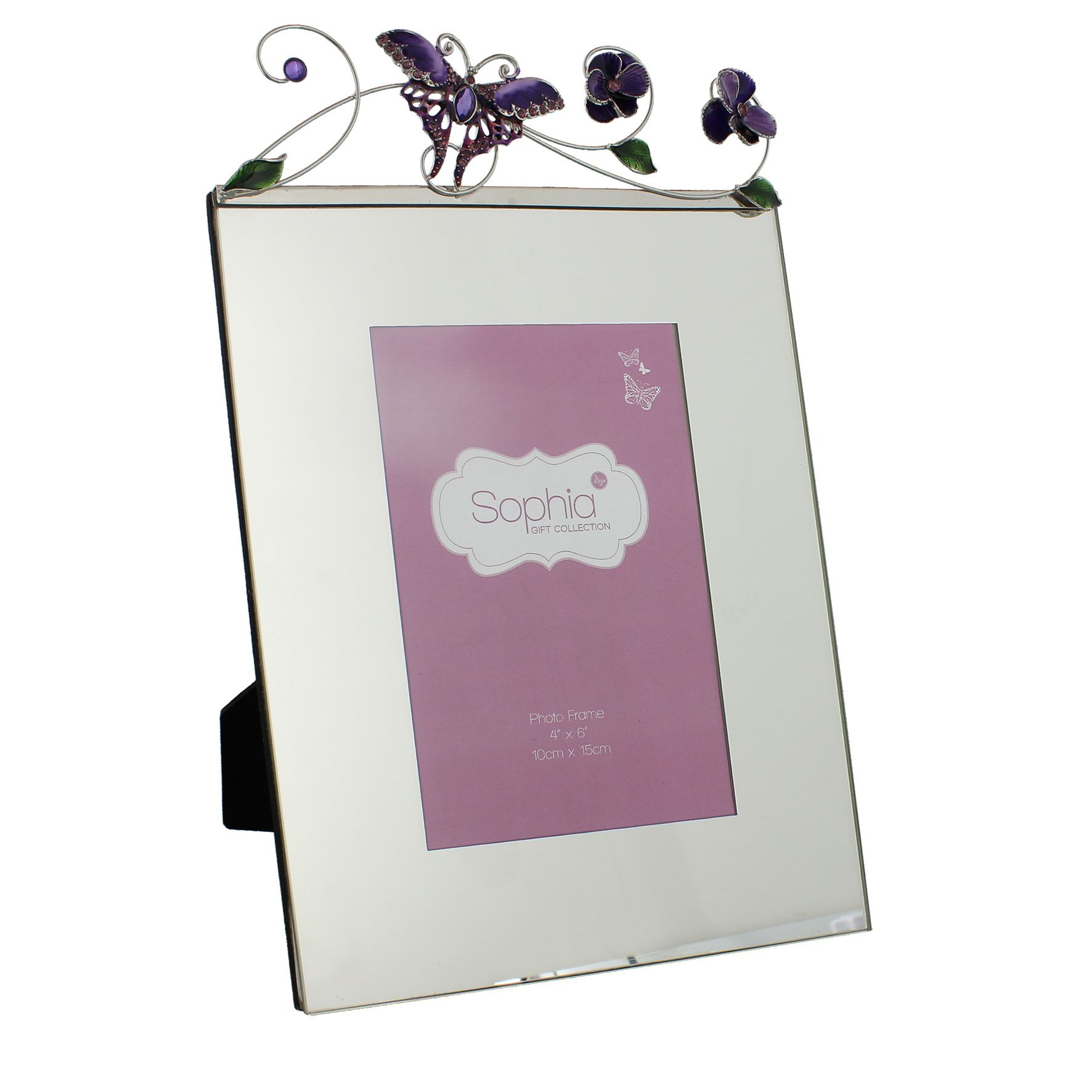 Sophia Butterfly Photo Frame Glass and Wire 4\