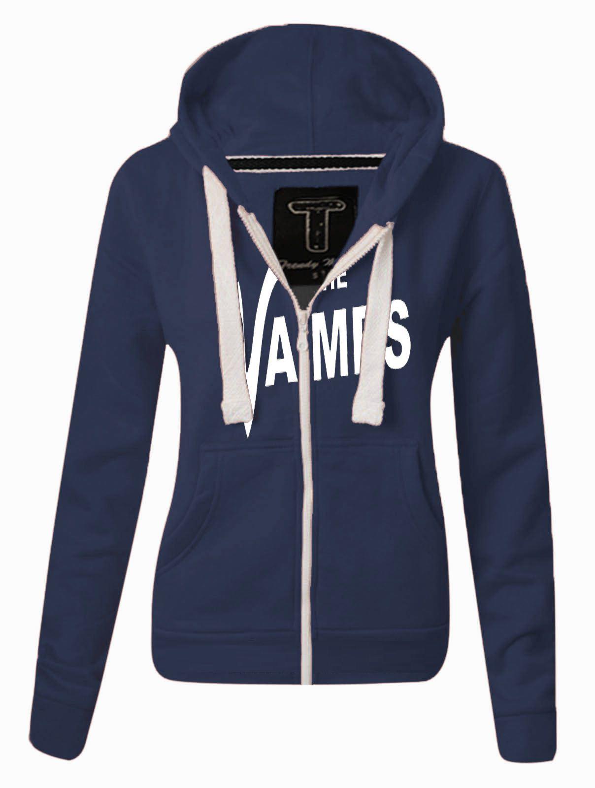Womens The Vamps Hoodie Ladies ZIPPED Sweatshirt Top Jumper Jacket ... efd4ba917580