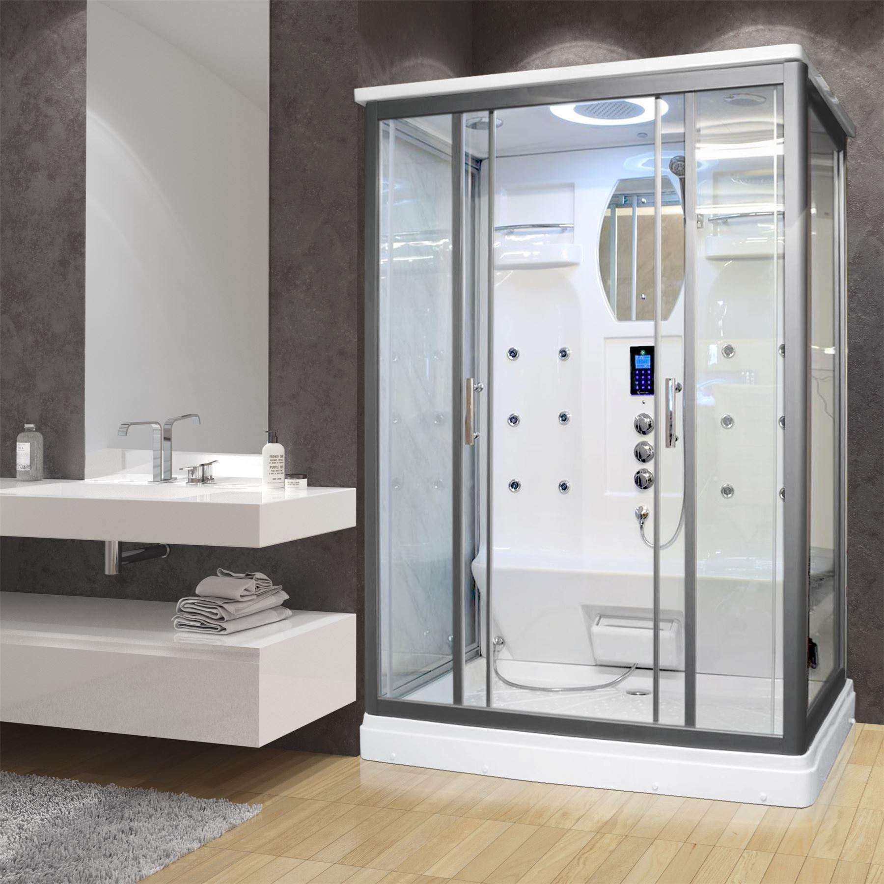 Alpine Twin 2 Person 1400 x 900 Steam Shower Cabin UK\'s Best   eBay