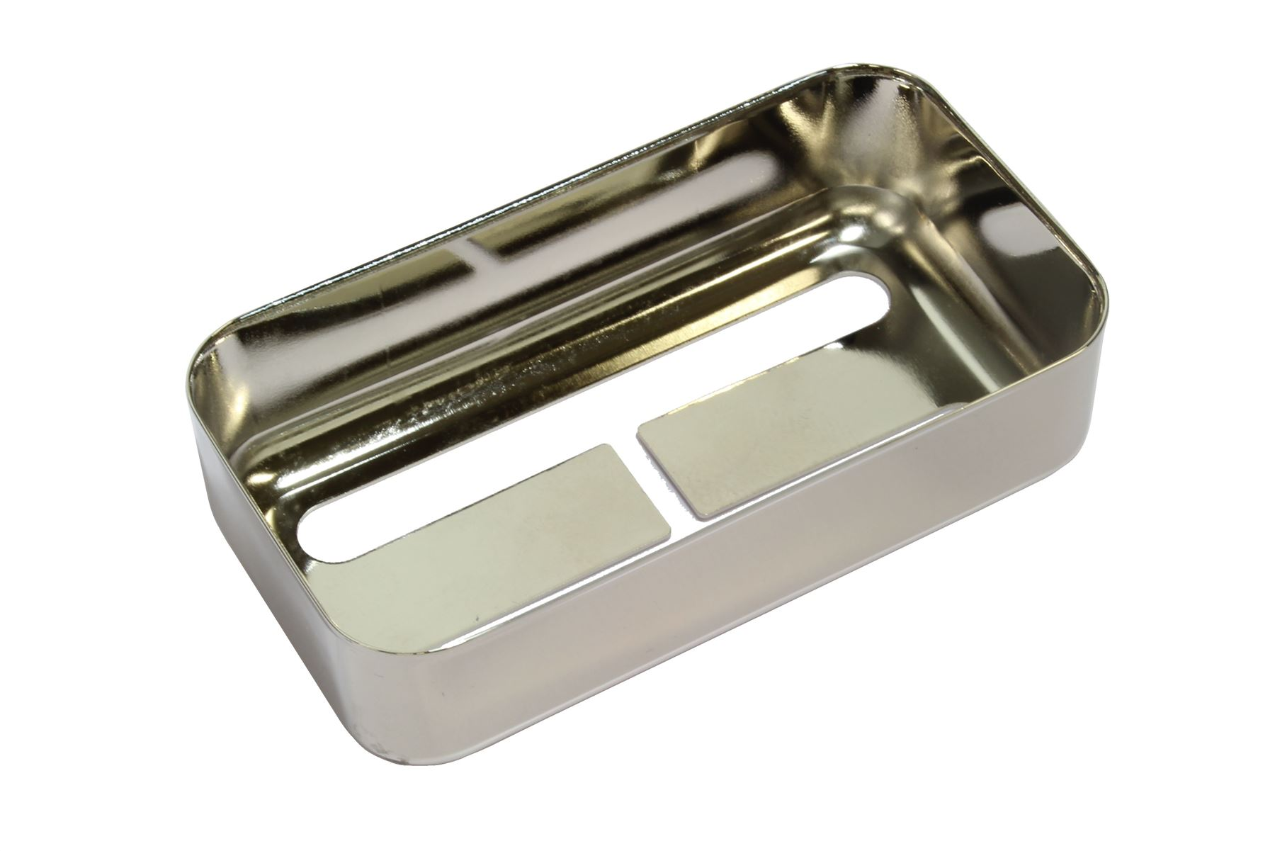 """Humbucker size Filtertron® pickup cover /""""Smoked Black Nickel/"""" fits Lollartron"""