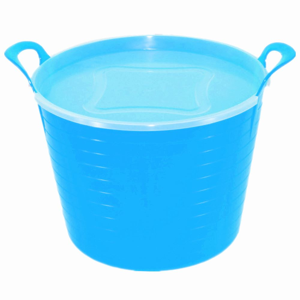 10 x 42 Litre Large Flexi Tub Garden Home Storage Container Bucket ...
