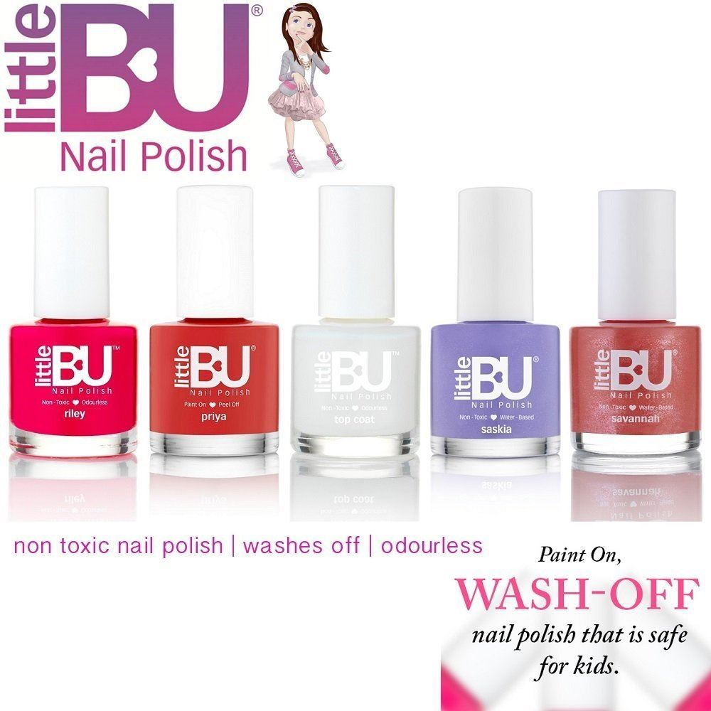 Little BU® Water Based Non-Toxic Colour Nail Polish Kids Teens MADE ...