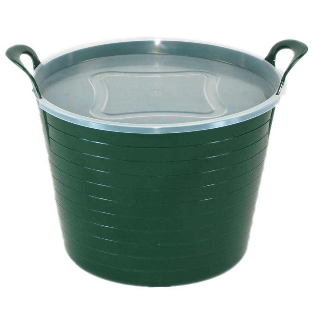 garden bucket. 10-x-42-Litre-Large-Flexi-Tub-Garden- Garden Bucket