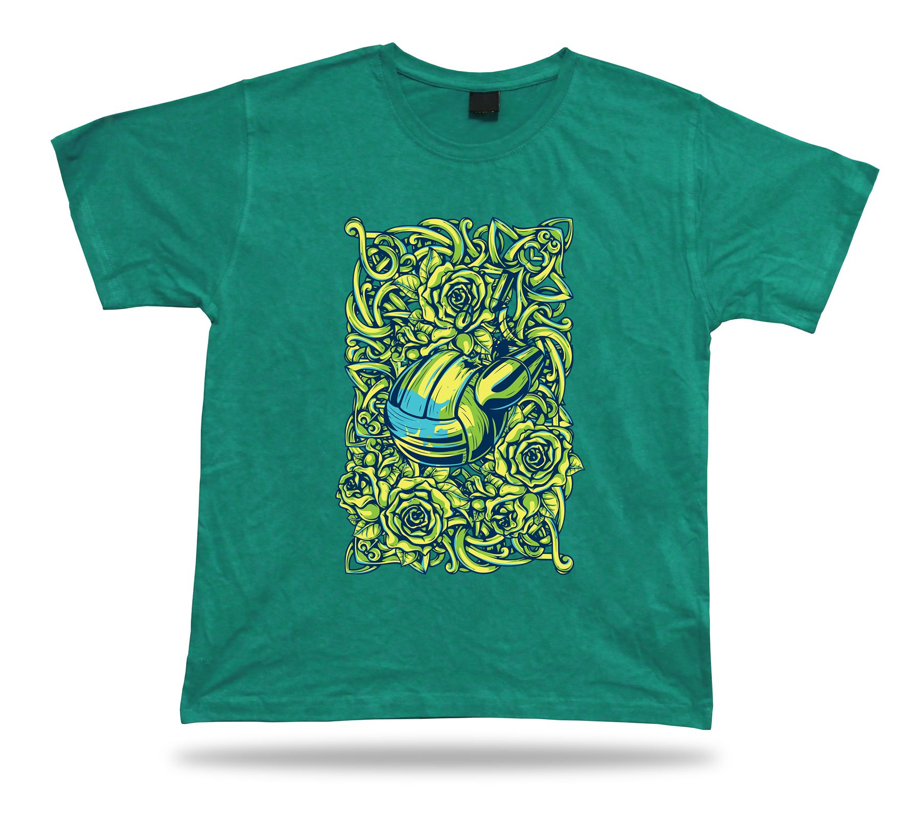 Volleyball Bullet Rose Thorn Cool Tshirt Design Awesome
