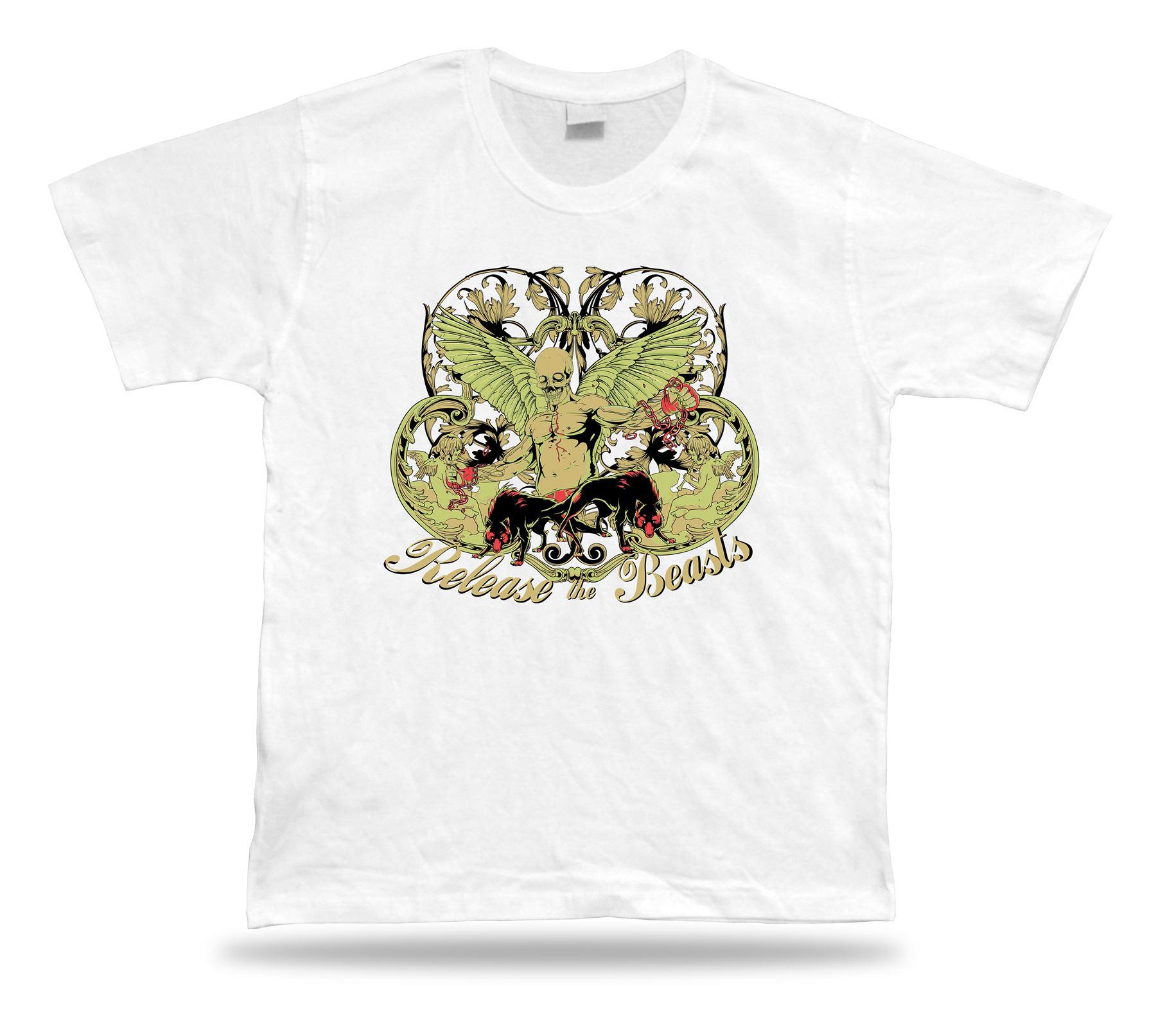 Tshirt Tee Shirt Birthday Gift Idea Release The Beasts Evil Angel ... d94f20e63