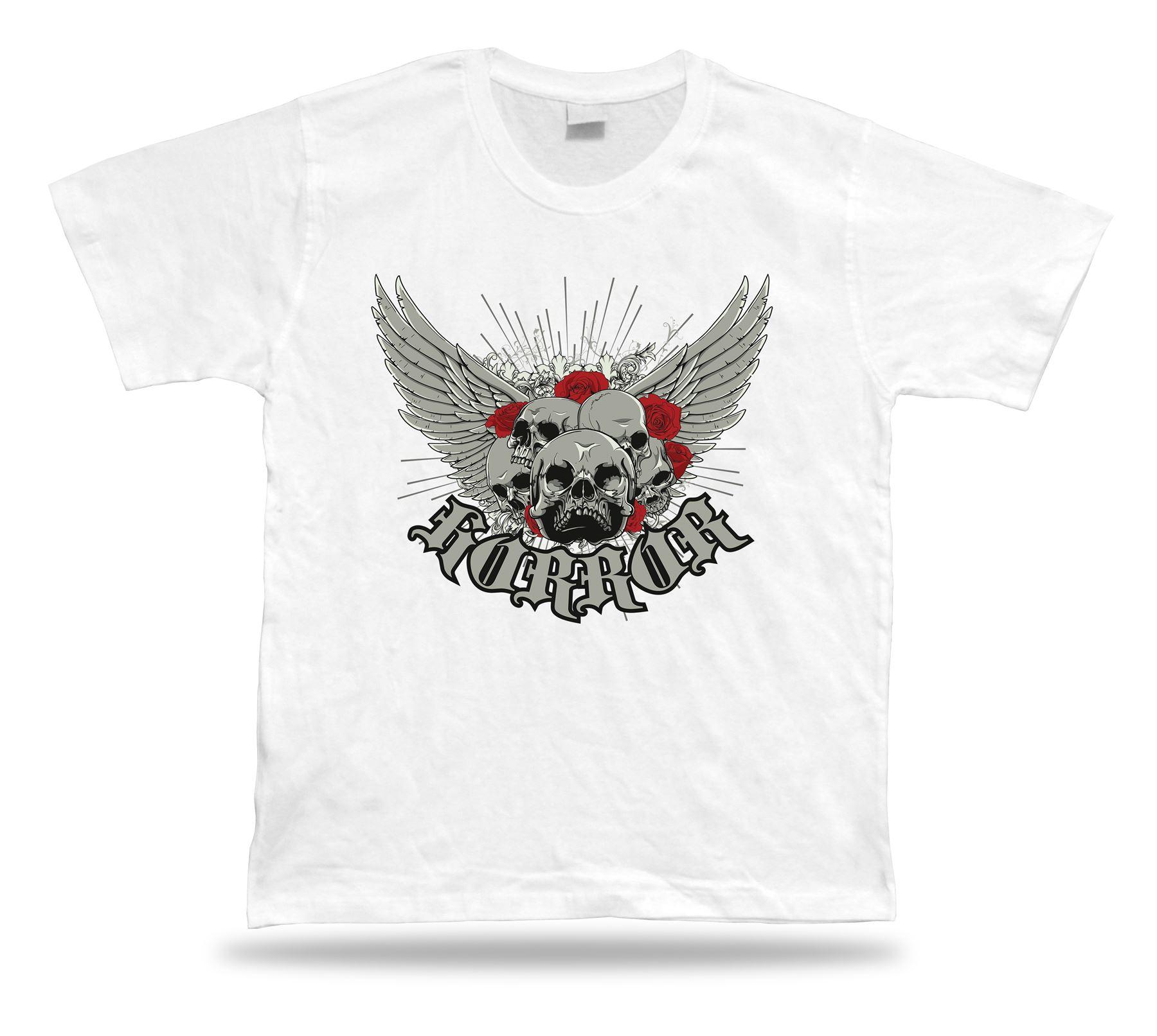 Devil Skeleton Skull Roses Modern Stylish T Shirt Tee Design ... dd991fa22