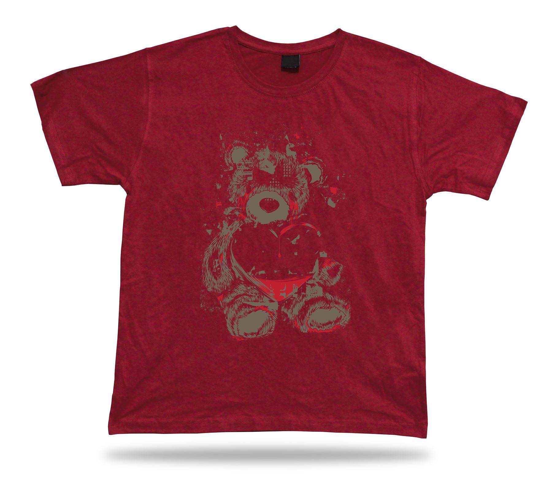 89a7eb548cbb Teddy Bear Crying Heart Love Care stylish Tshirt tee shirt vector ...