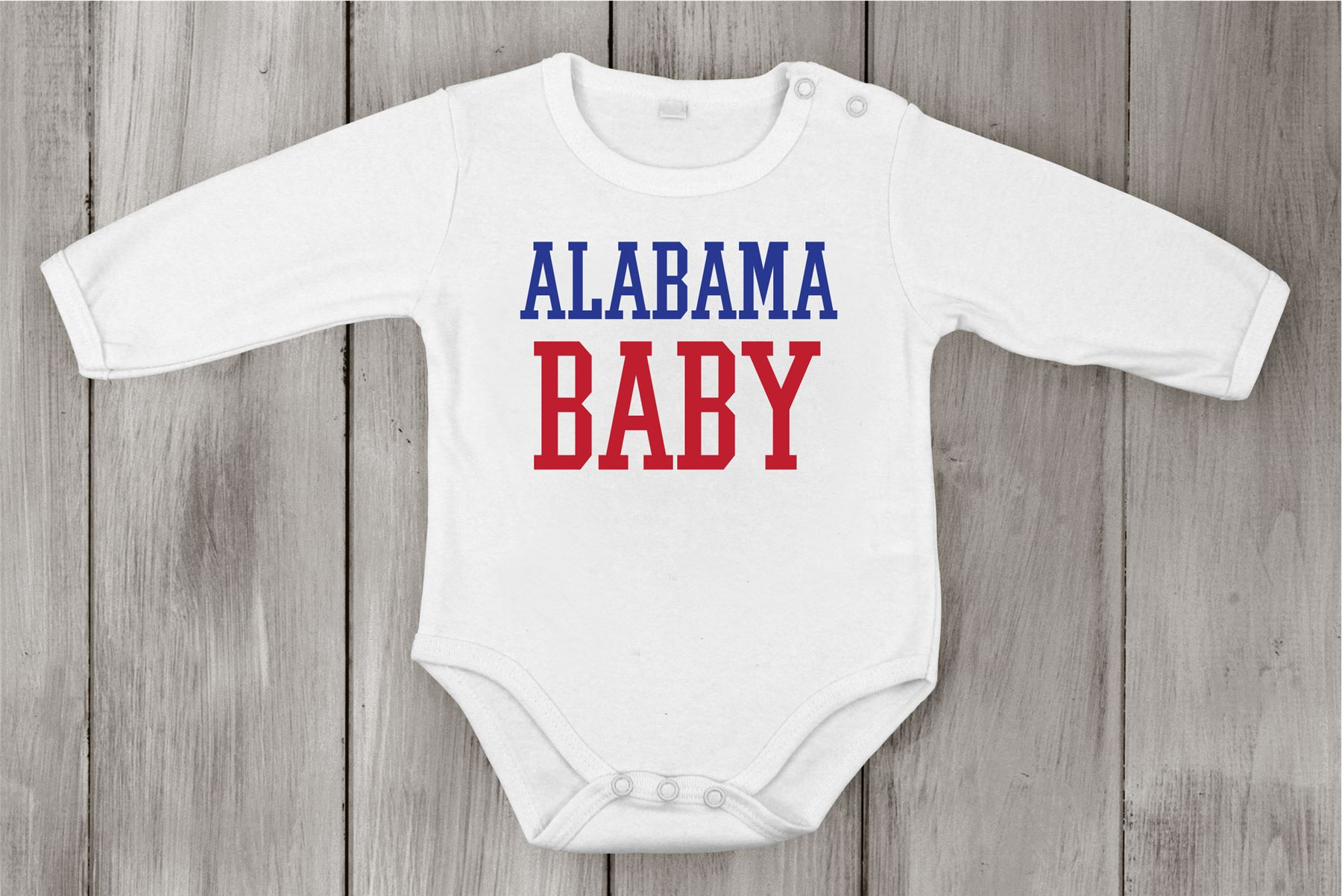 Baby Cotton Uni Newborn Bodysuit Long e piece Alabama Baby USA
