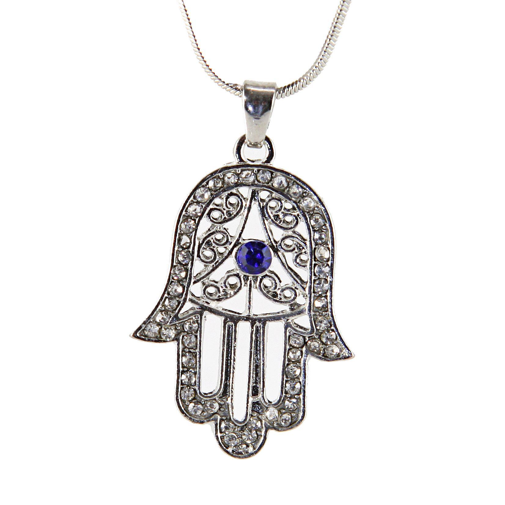 Collar de Hamsa Mano de Dios CILELO Evil encanto del ojo colgante judío Judaica
