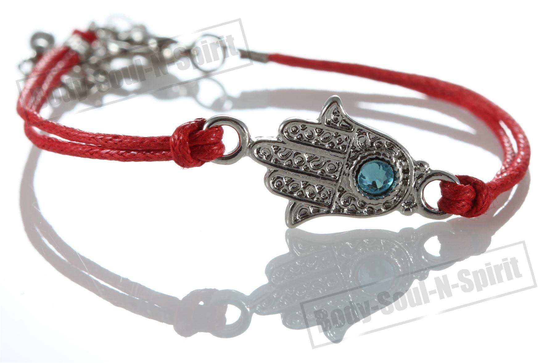 5 Rot Hamsa gegen Bösen Blick Kordel-Armbänder Kabbalah mystischer Schmuck