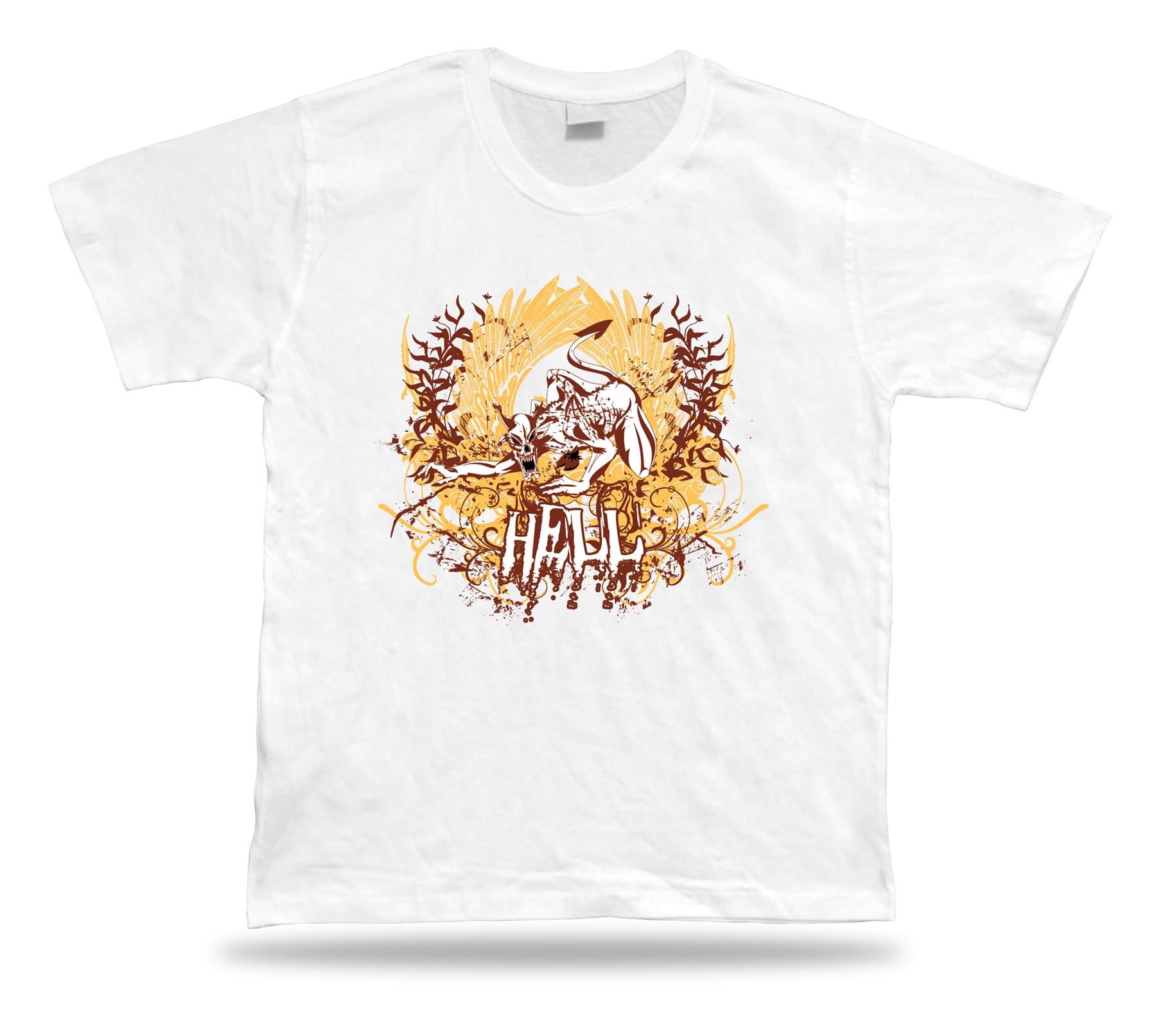 Hell Evil Demon Monster Cool Modern T Shirt Tee Desing Special ... e291ac3f8