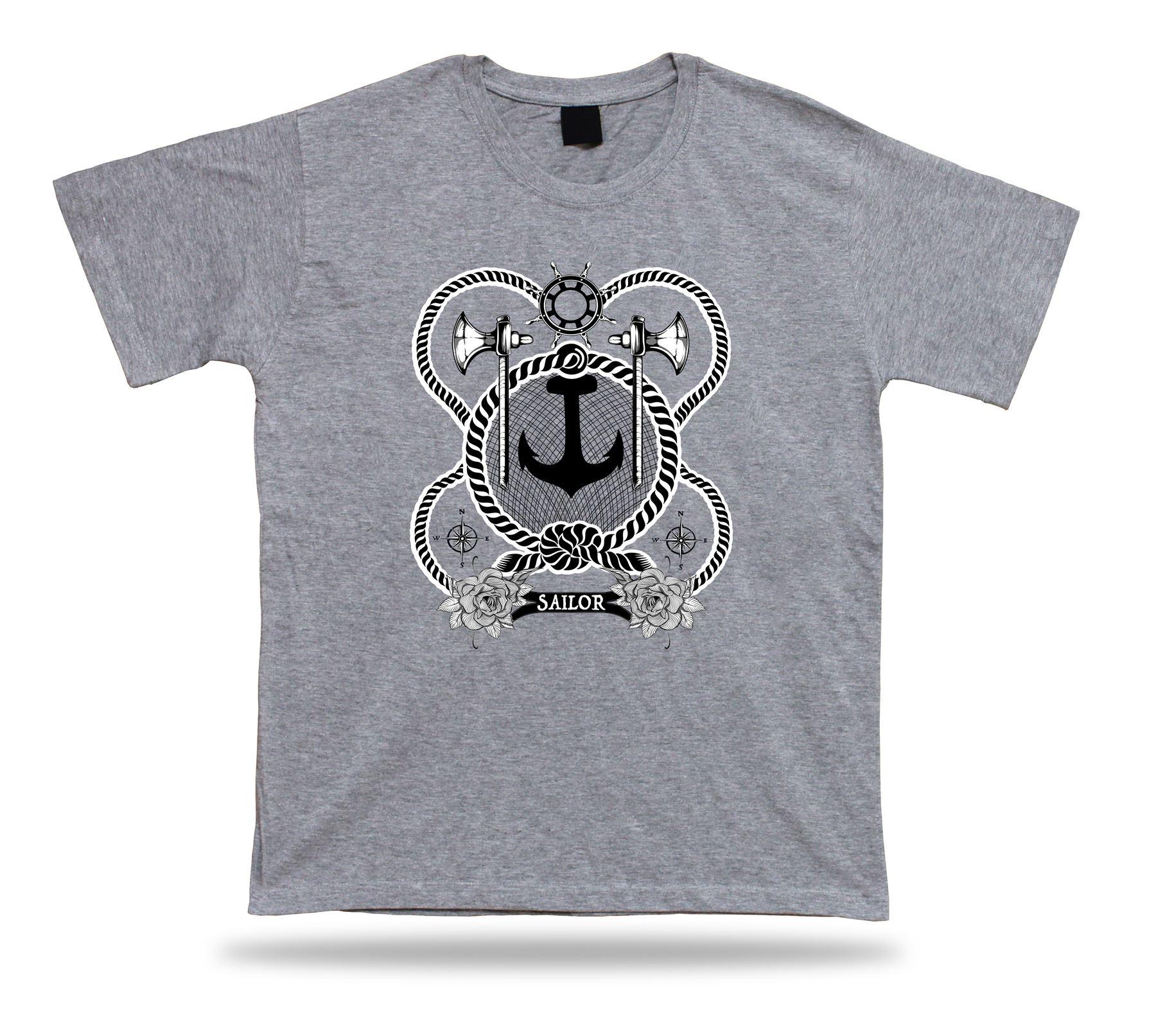 Tshirt Tee Shirt Birthday Gift Idea Sailor Elements