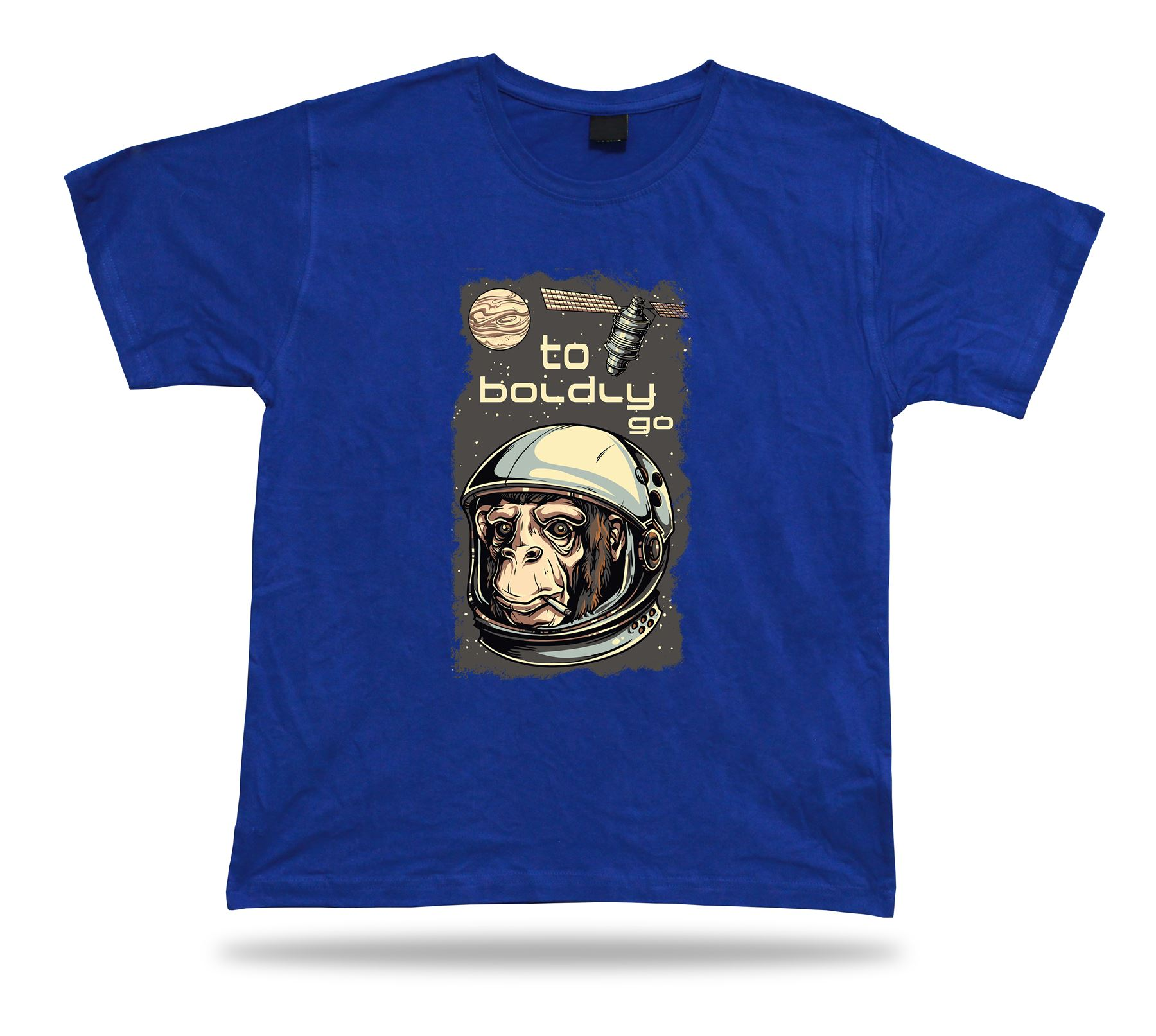 to boldly go monkey outer space astronaut tshirt tee idea birthday gift apparel ebay. Black Bedroom Furniture Sets. Home Design Ideas