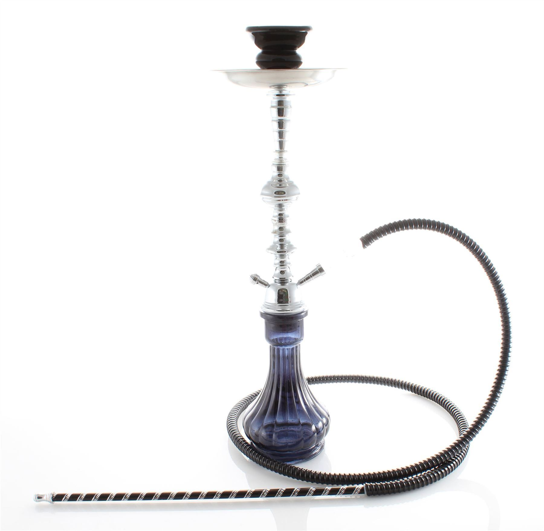 2 Hose Purple Gini Shisha Black Laser pipe Hookah set best buy Fun Nargila pu