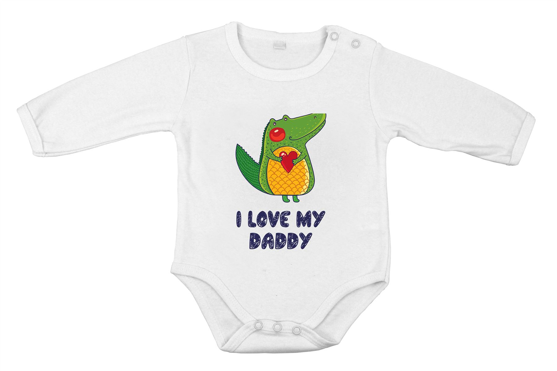 I Love My Daddy Safari Frog Funny Cute Baby Newborn Long Gift e