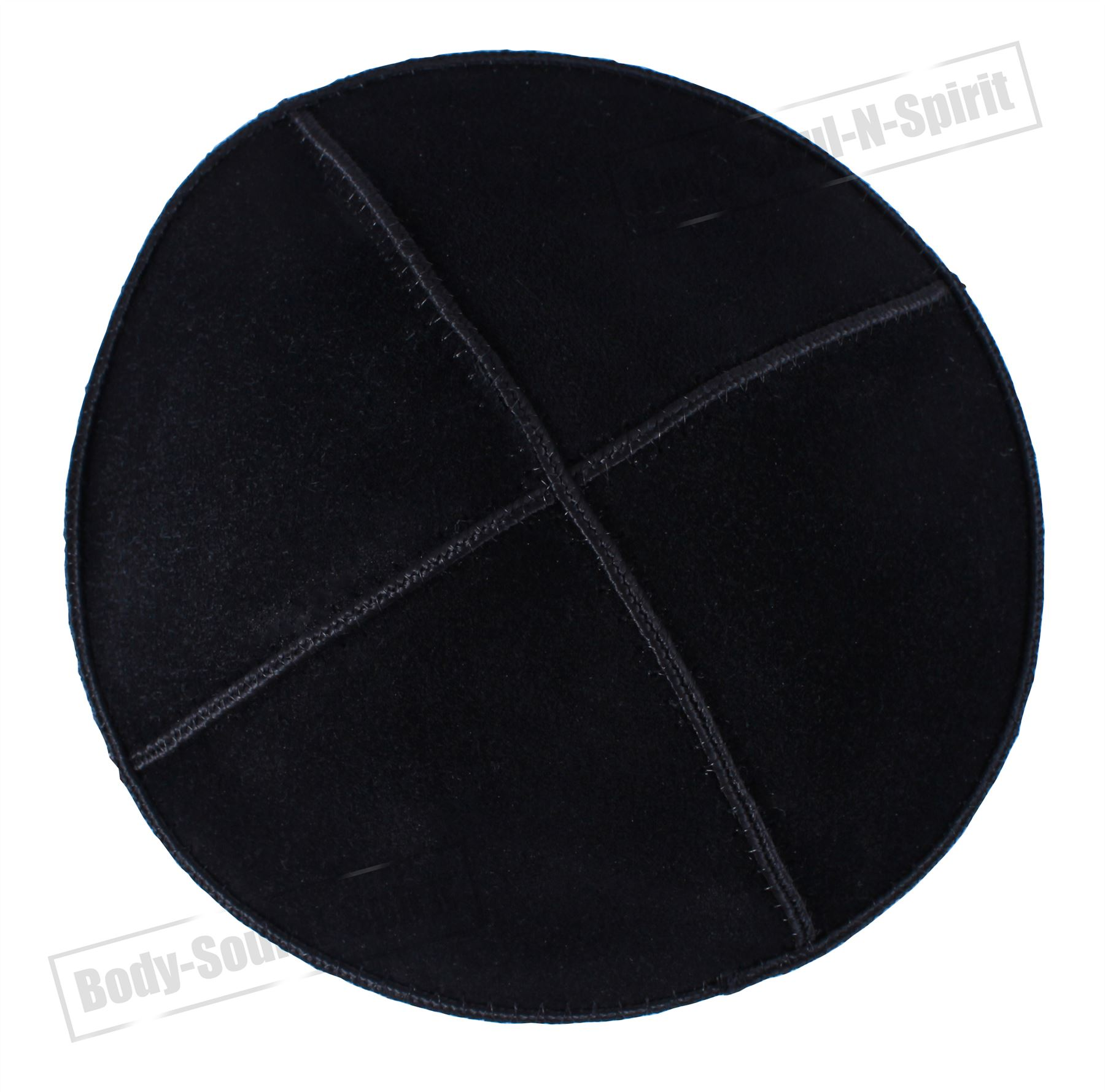 Black leather Beanie Kippah Yarmulke Kippa Israel Tribal Jewish Hat ...