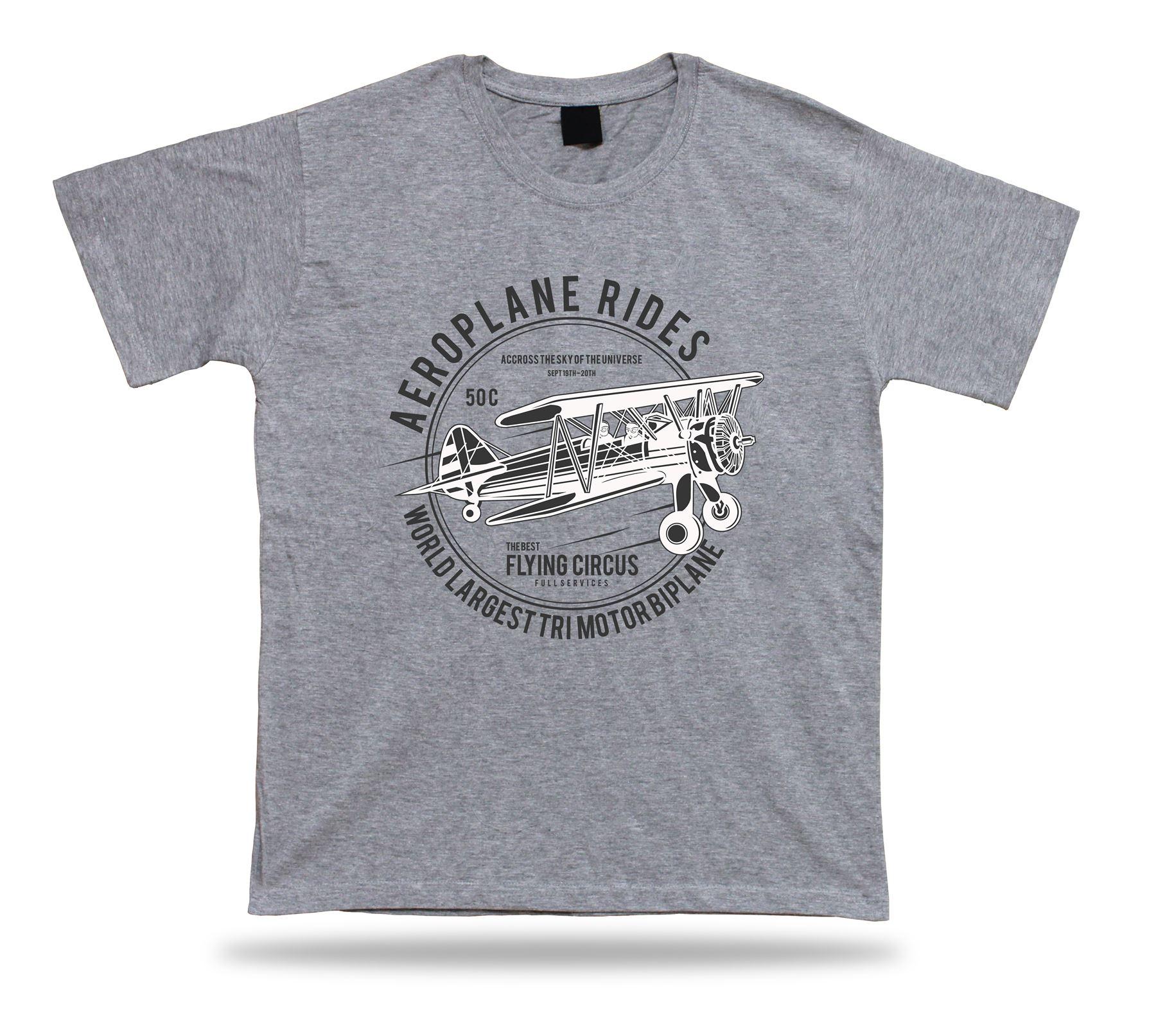 Aeroplane Rides The best flying circus vintage t shirt tee modern design gift