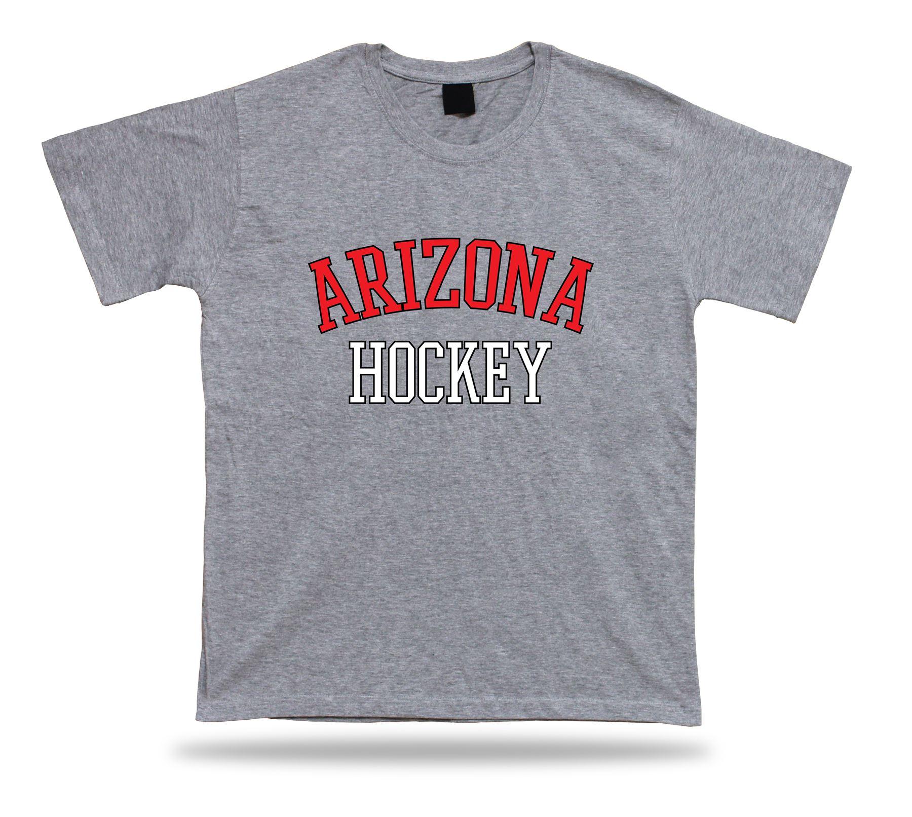 Arizona hockey t shirt tee red black white az usa ice for T shirt design usa