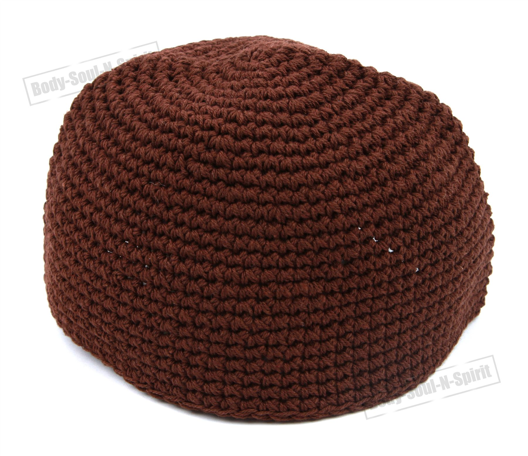 Brown Knitted Kippah Yarmulke Tribal Jewish Hat covering Holy Scared ...
