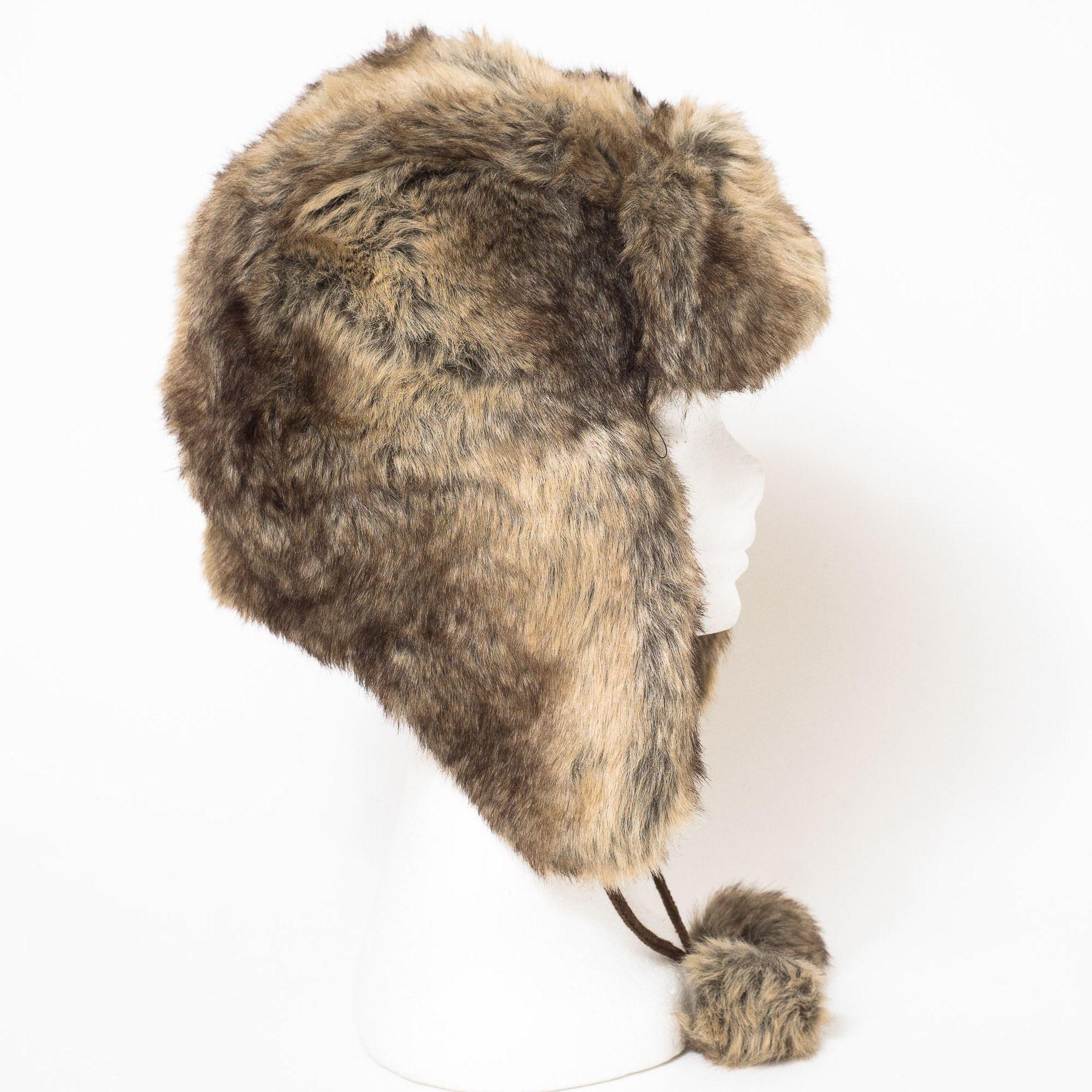 sortie en ligne prix de gros images détaillées Détails sur Bonnet de trappeur en fausse fourrure style Russe
