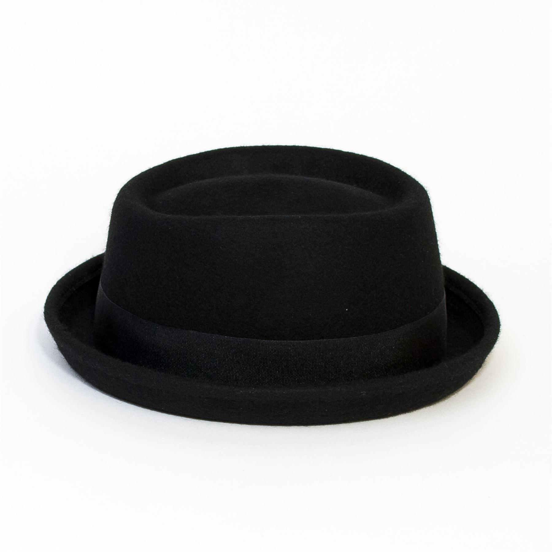 Plain Band Casual Pork Pie Hat