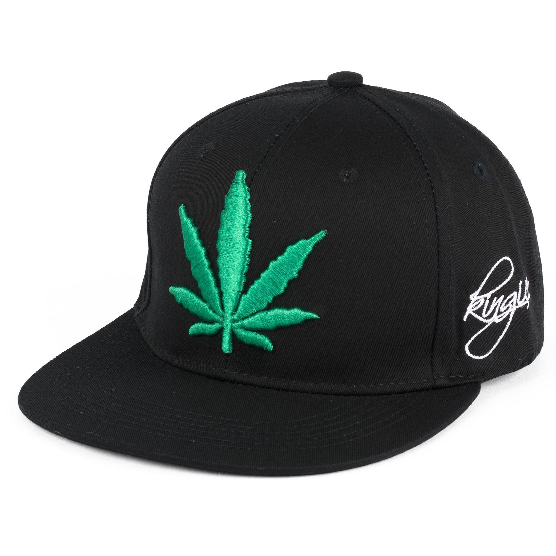 casquette snapback brod e motif feuille de cannabis weed ebay. Black Bedroom Furniture Sets. Home Design Ideas