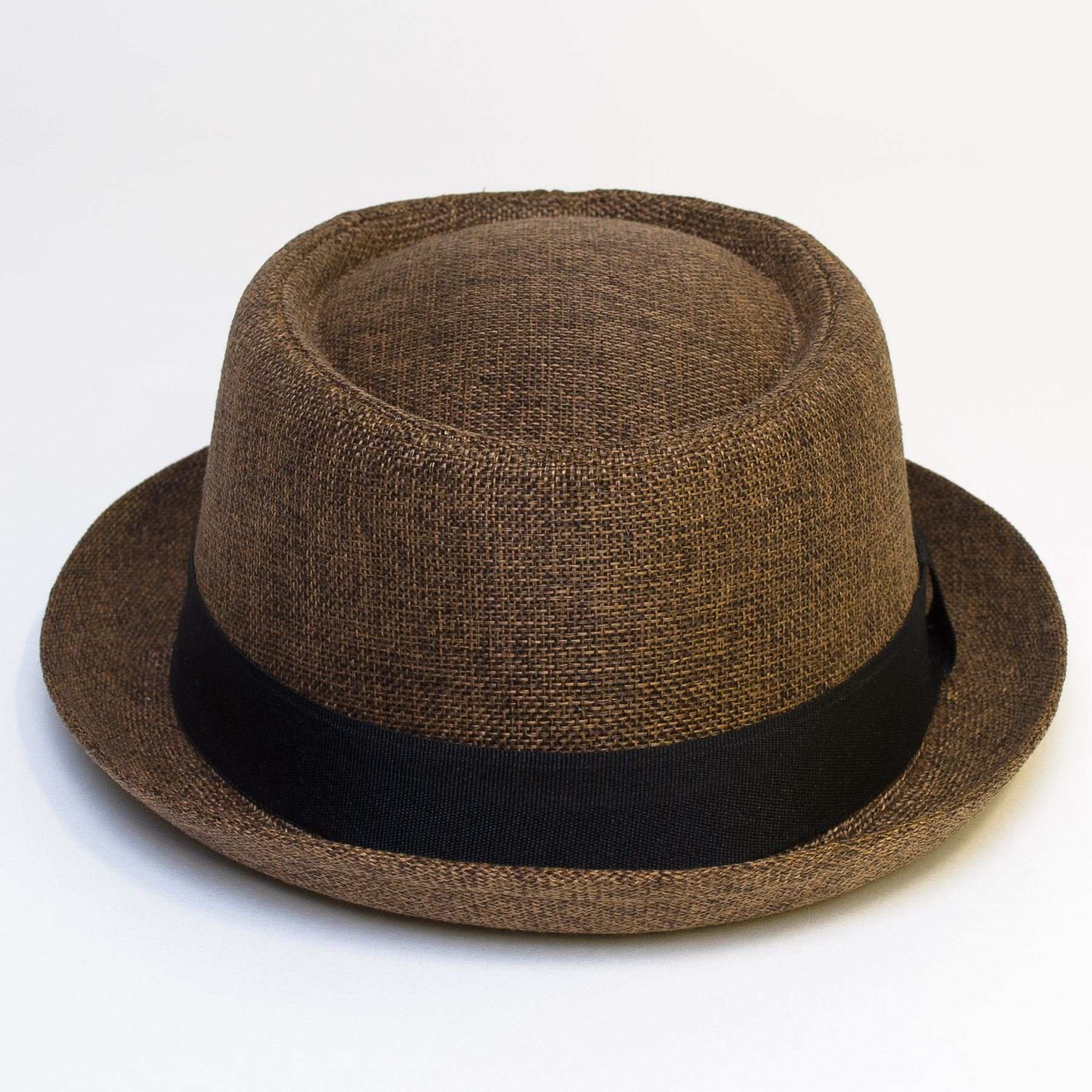 Pork-Pie-Hat-with-Black-Grosgrain-Band thumbnail 16