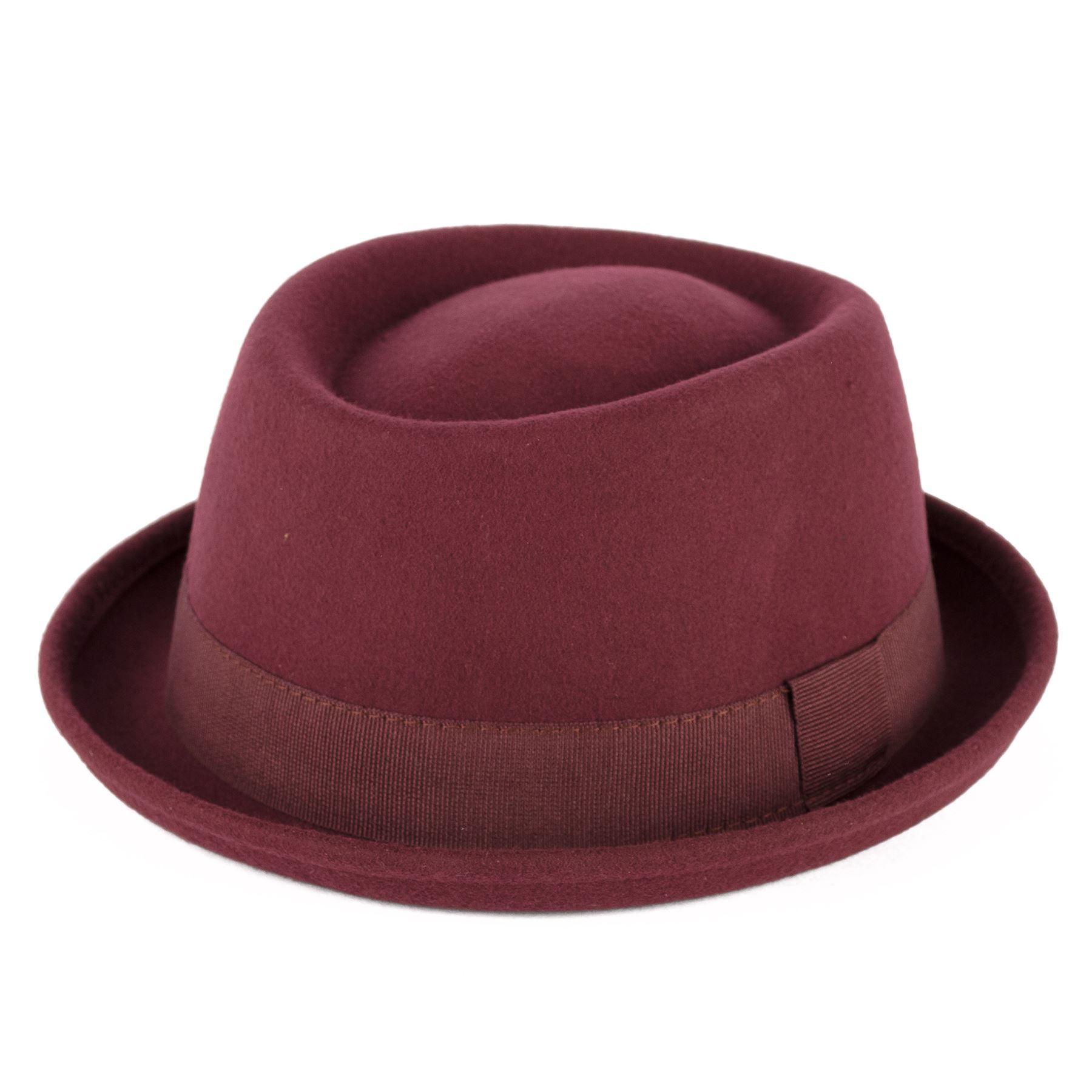 chapeau pork pie 100 laine avec ruban gros grain fait la main en italie ebay. Black Bedroom Furniture Sets. Home Design Ideas