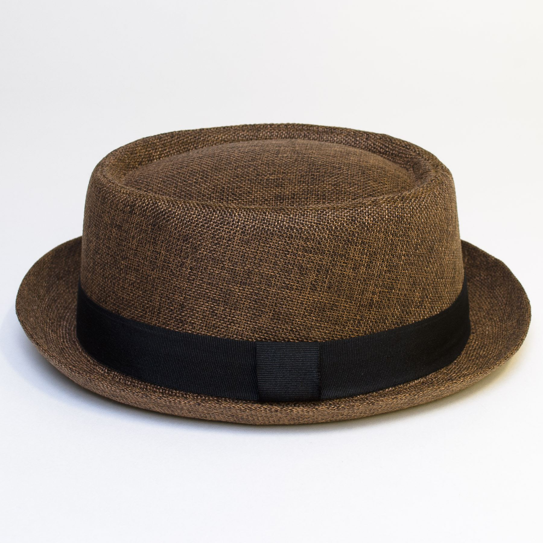 Pork-Pie-Hat-with-Black-Grosgrain-Band thumbnail 15
