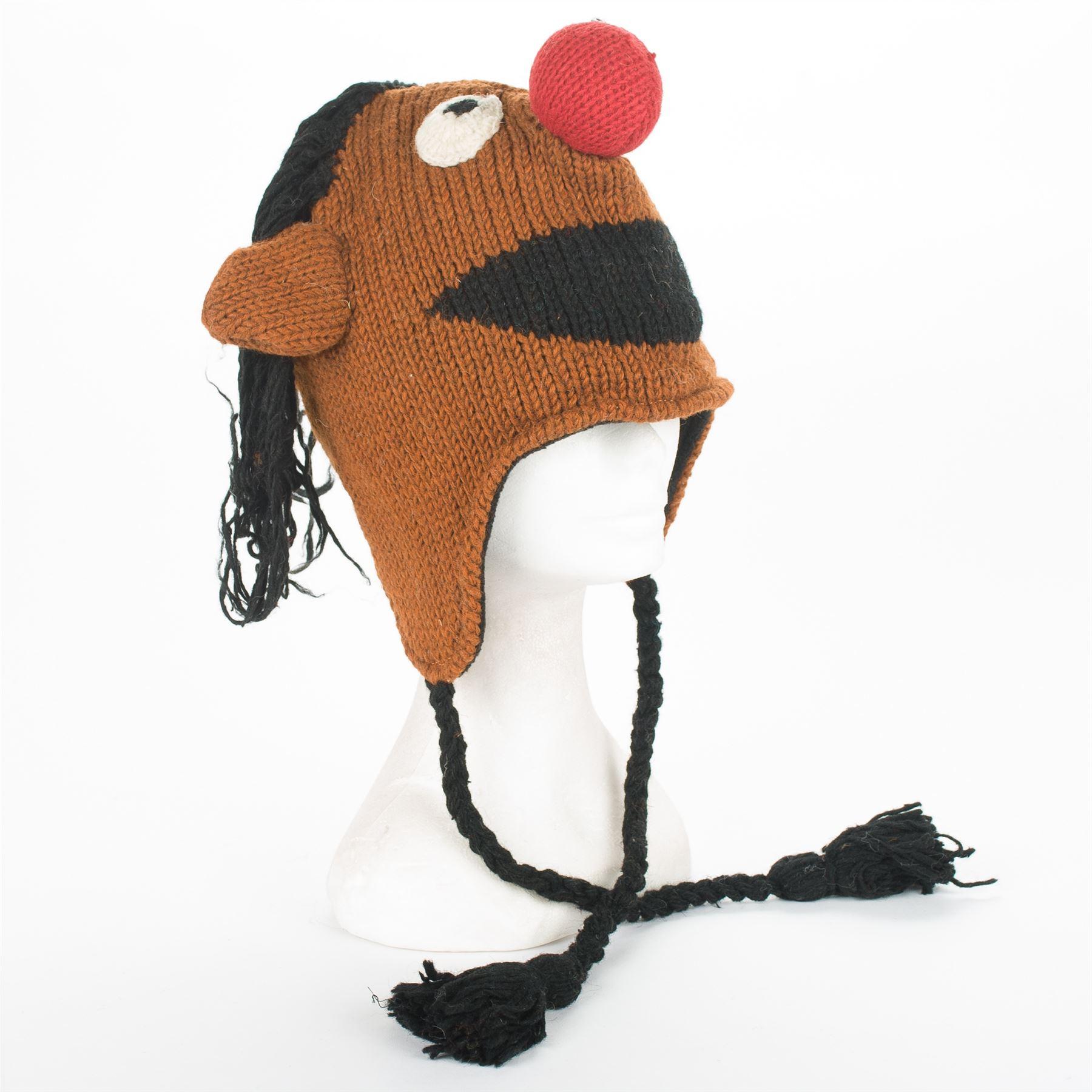 Details about Handmade 100% Wool Unisex Winter Nepal Hat, Muppet Show  Sesame Street