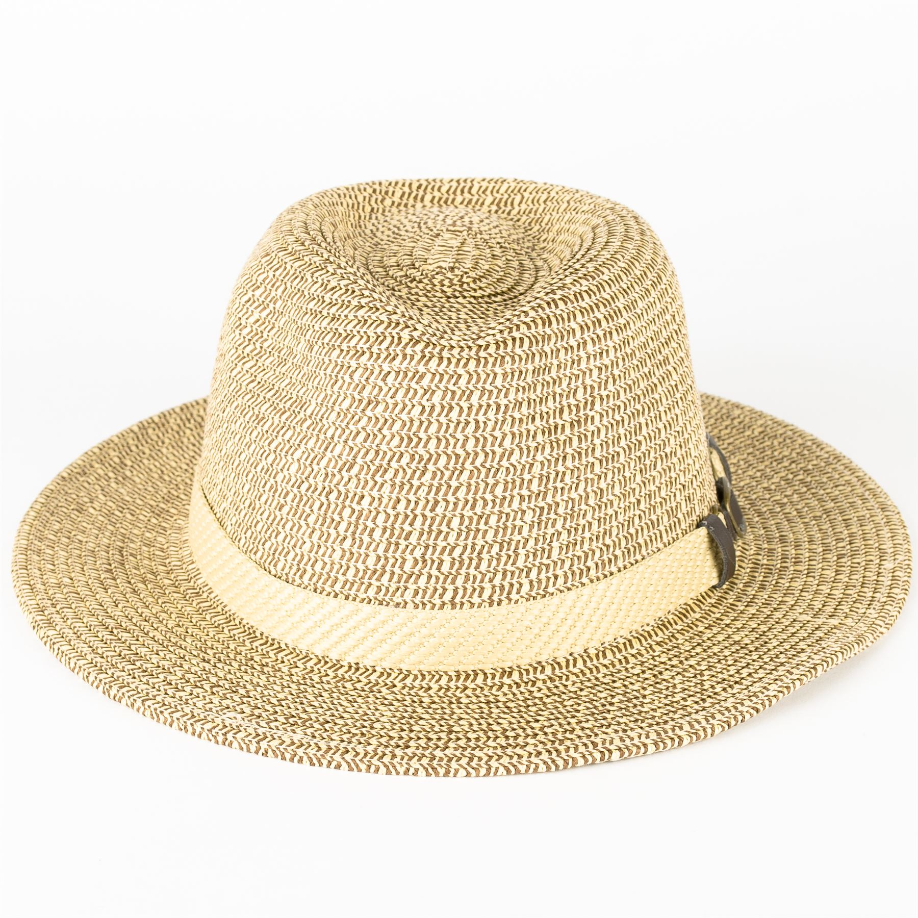 Buckle Hats: Straw Fedora Hat With Buckle Band