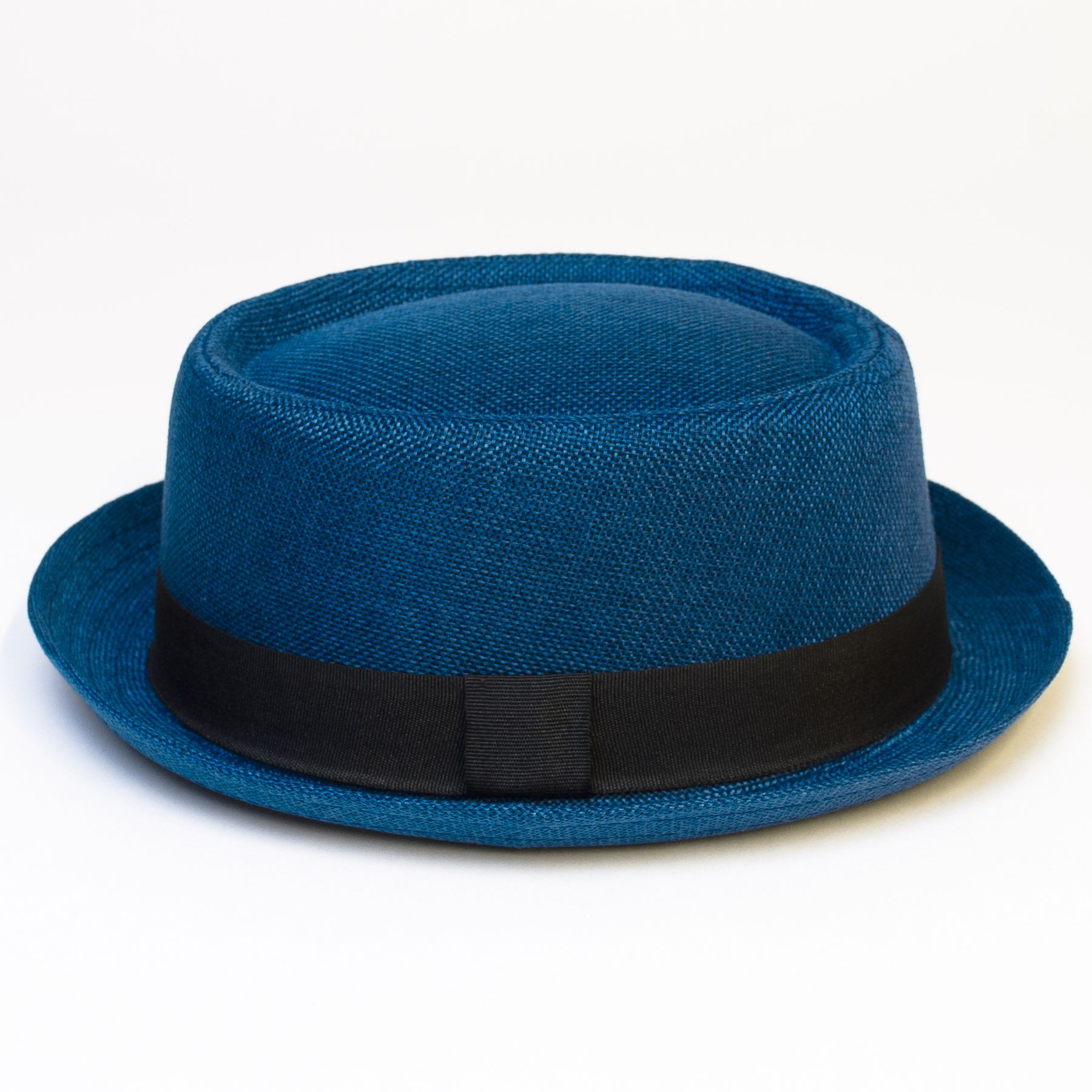 Pork-Pie-Hat-with-Black-Grosgrain-Band thumbnail 11
