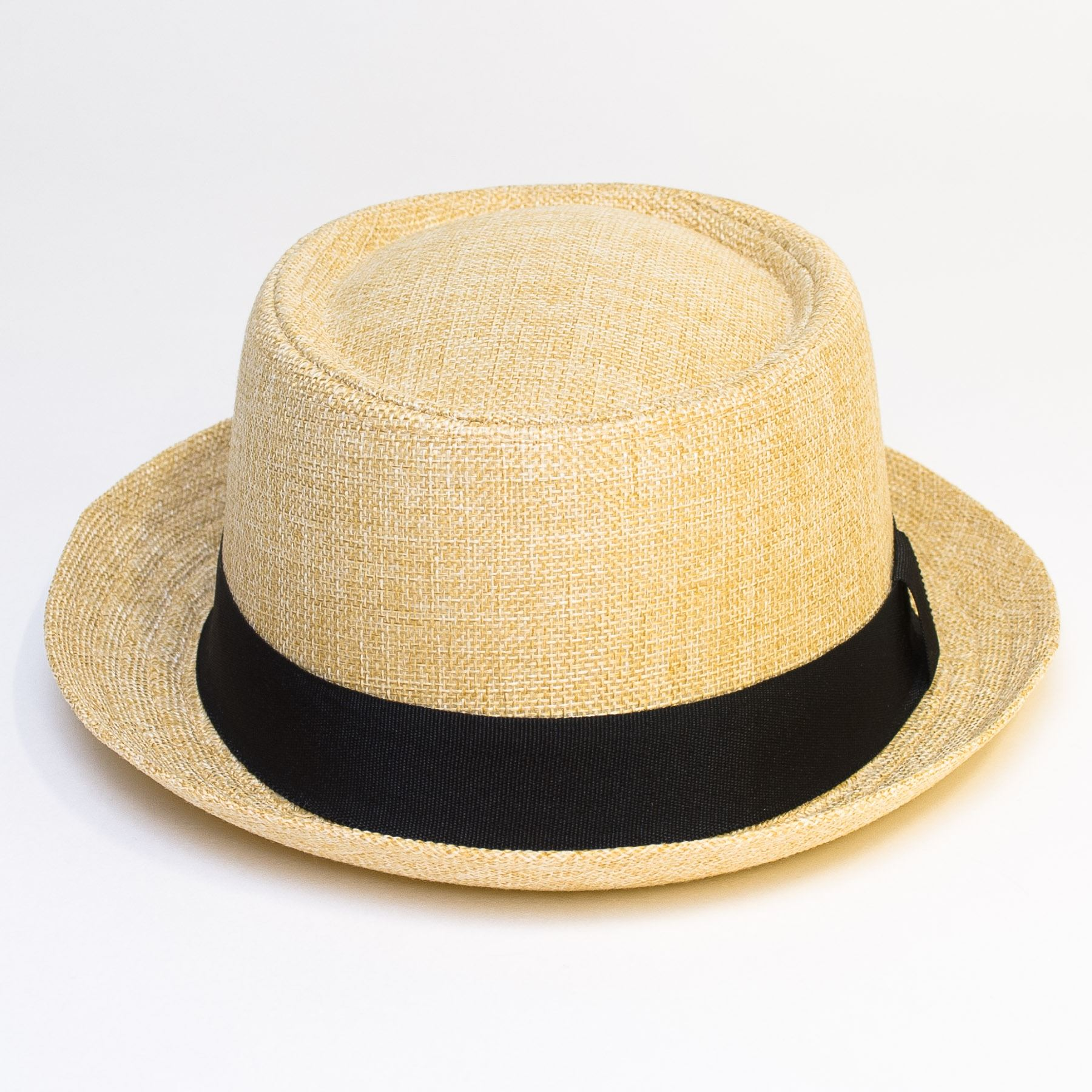 Pork-Pie-Hat-with-Black-Grosgrain-Band thumbnail 4