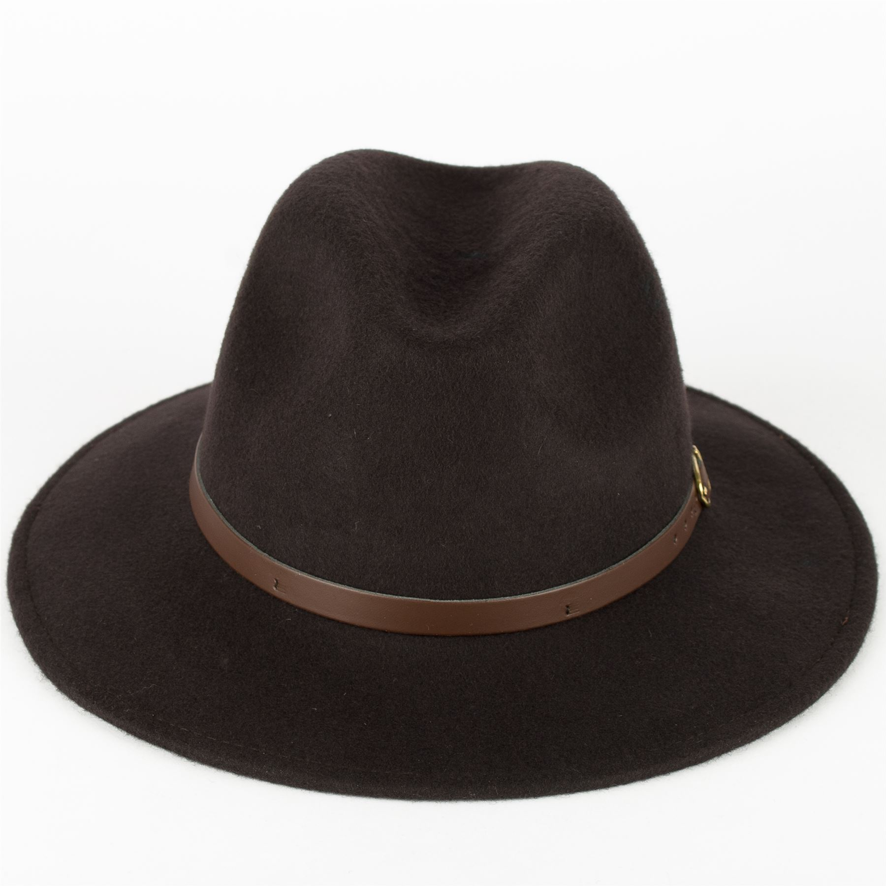 Hat To Socks Wool Fedora Hat with Leather Belt Waterproof   Crushable  Handmade in Italy a2c8a859655