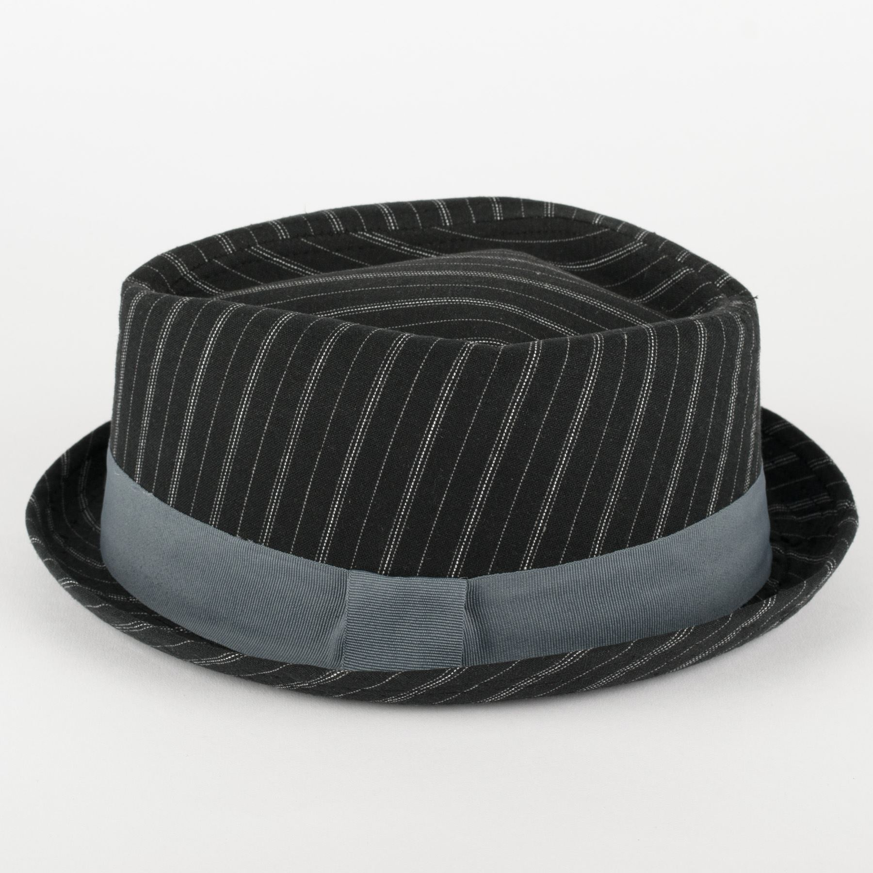 6be8d6719 Details about Diamond Shaped Pinstriped Summer Pork Pie Hat