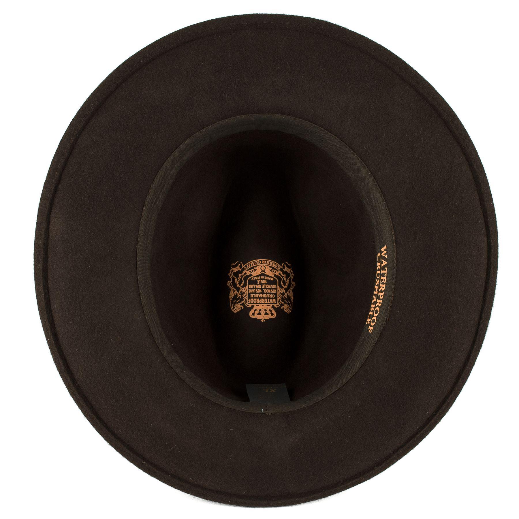 Elegant 100% Wool Fedora Hat Waterproof   Crushable Handmade in ... 56667eae949