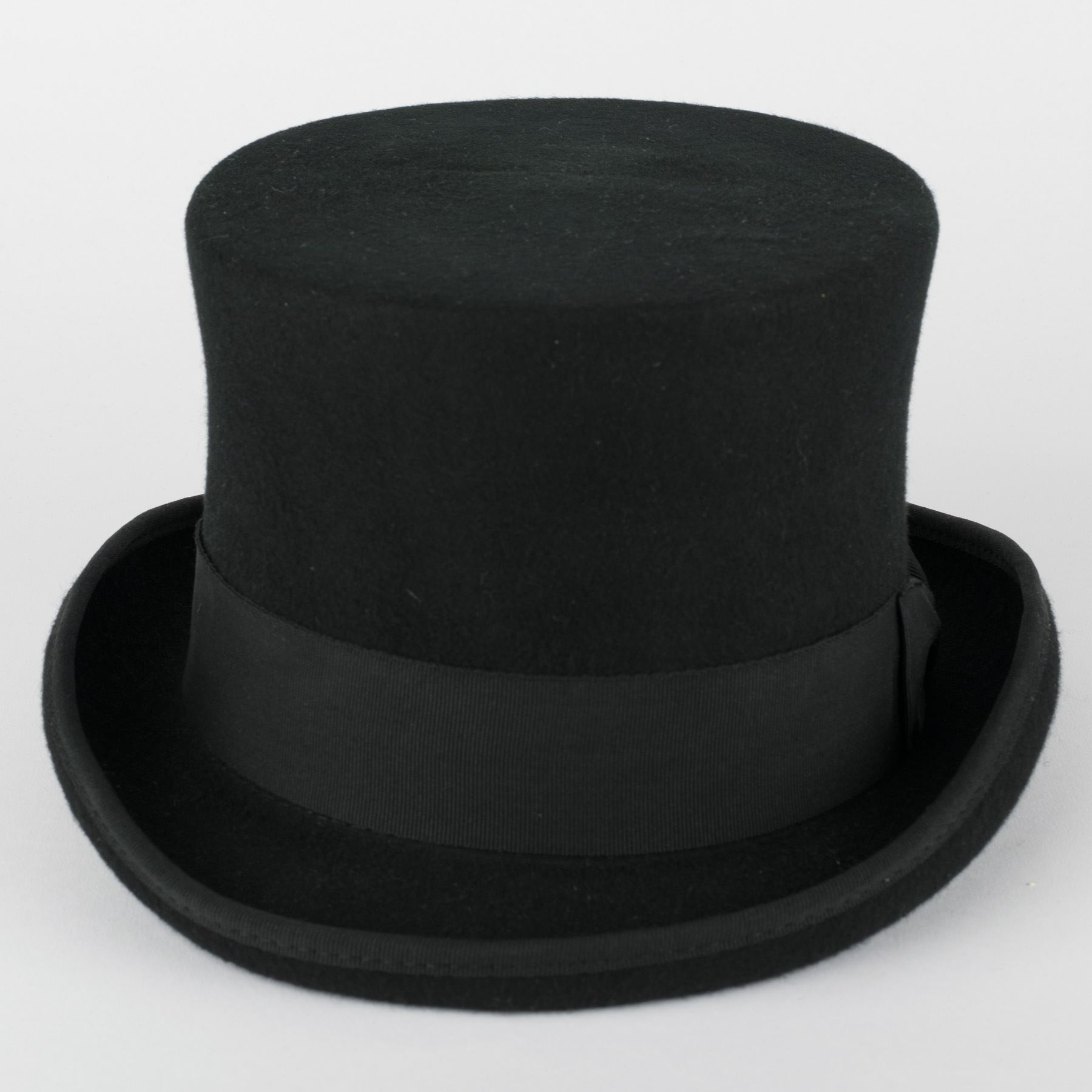 Sombrero de copa negro 100 % de lana  3f0bbc1830b