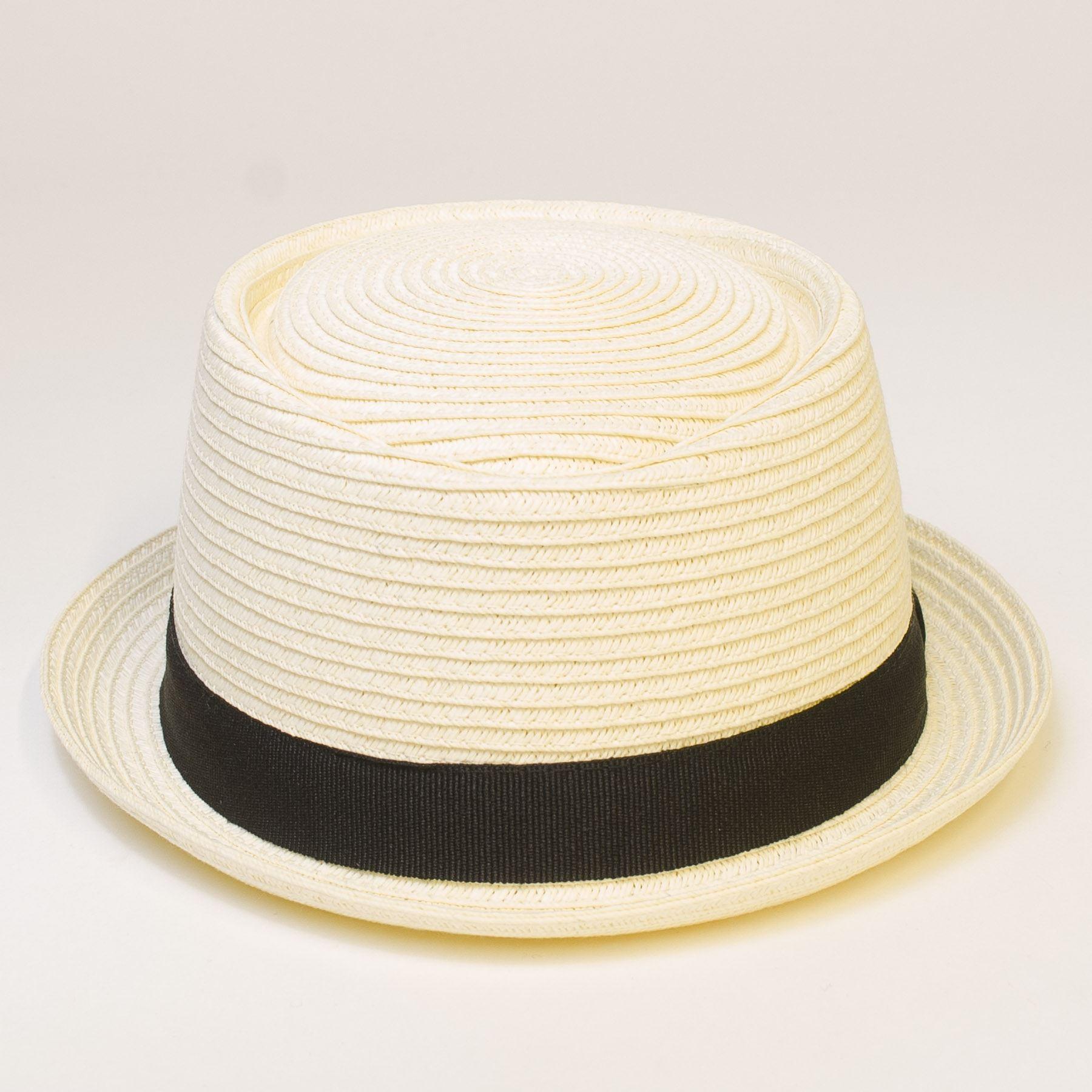straw look pork pie hat ebay. Black Bedroom Furniture Sets. Home Design Ideas